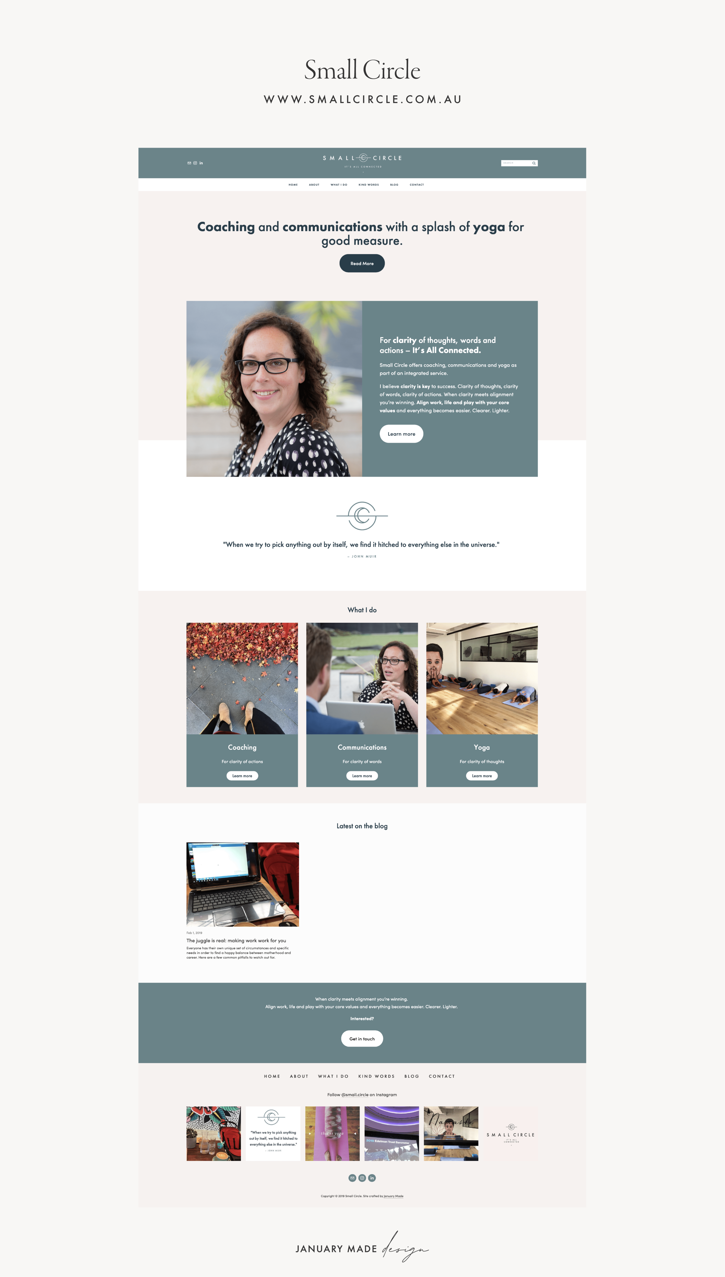 Small Circle Website - by January Made Design