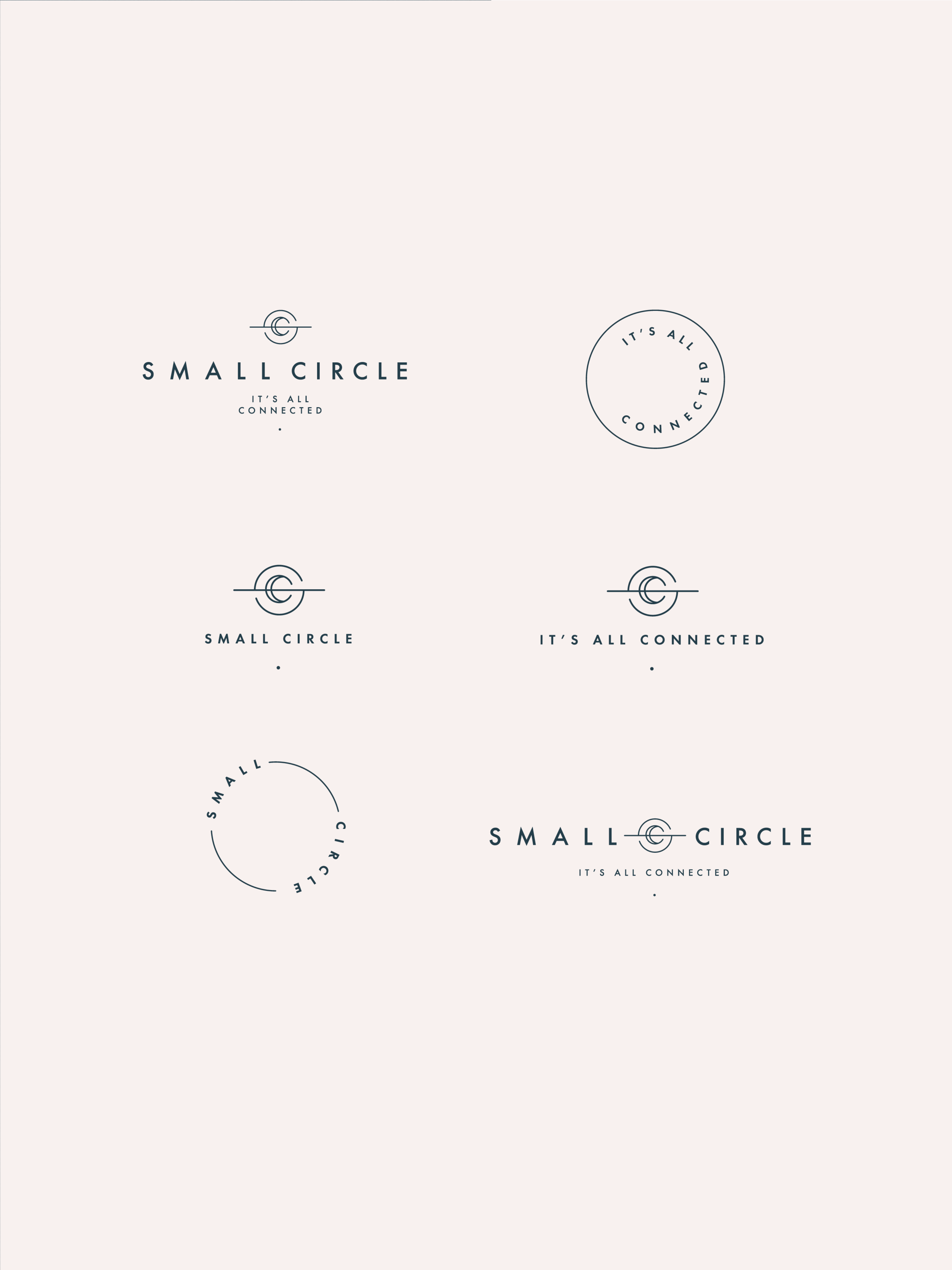 Small Circle logo elements - January Made Design
