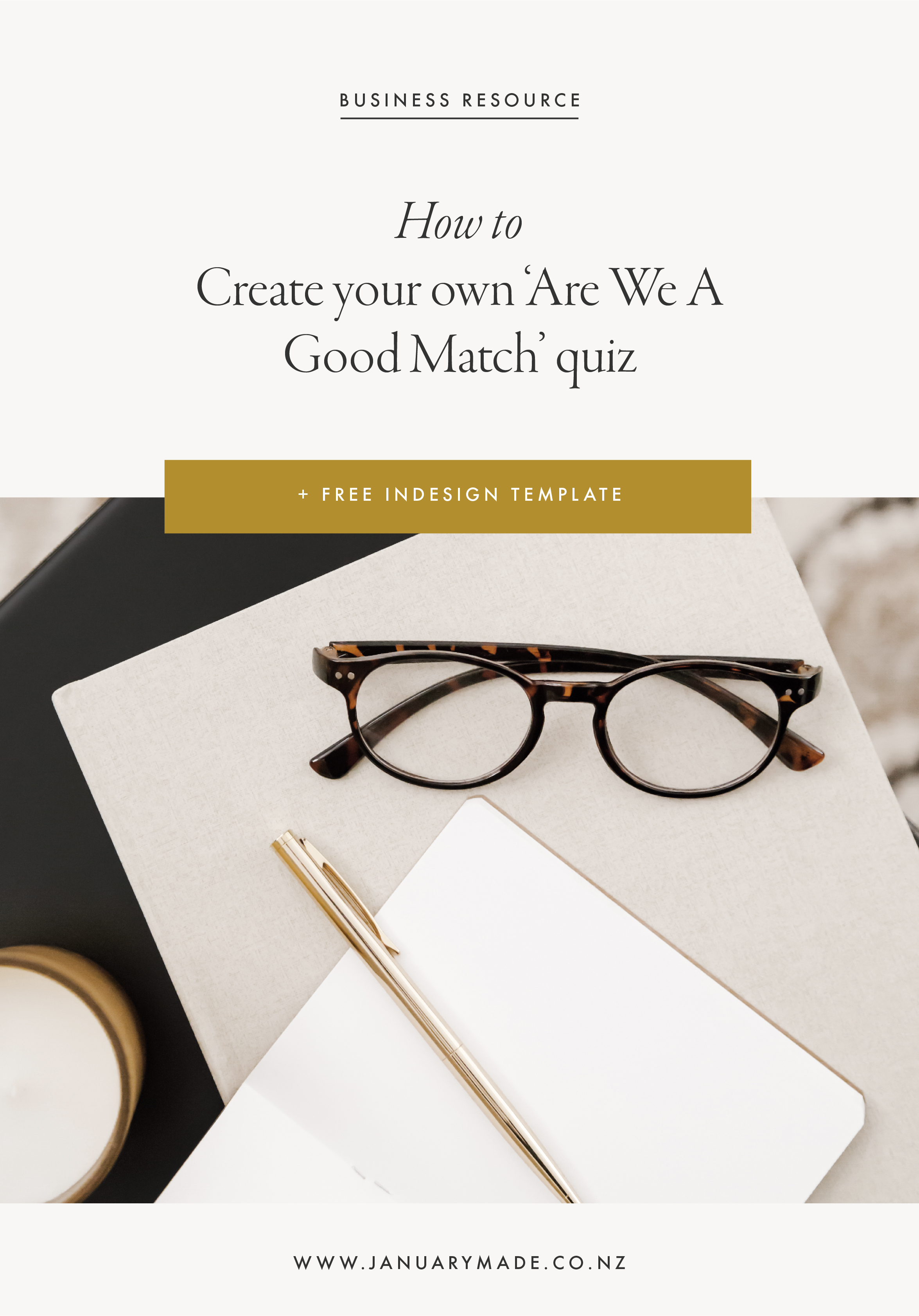 How to create an 'are we a good match' quiz + FREE Indesign template