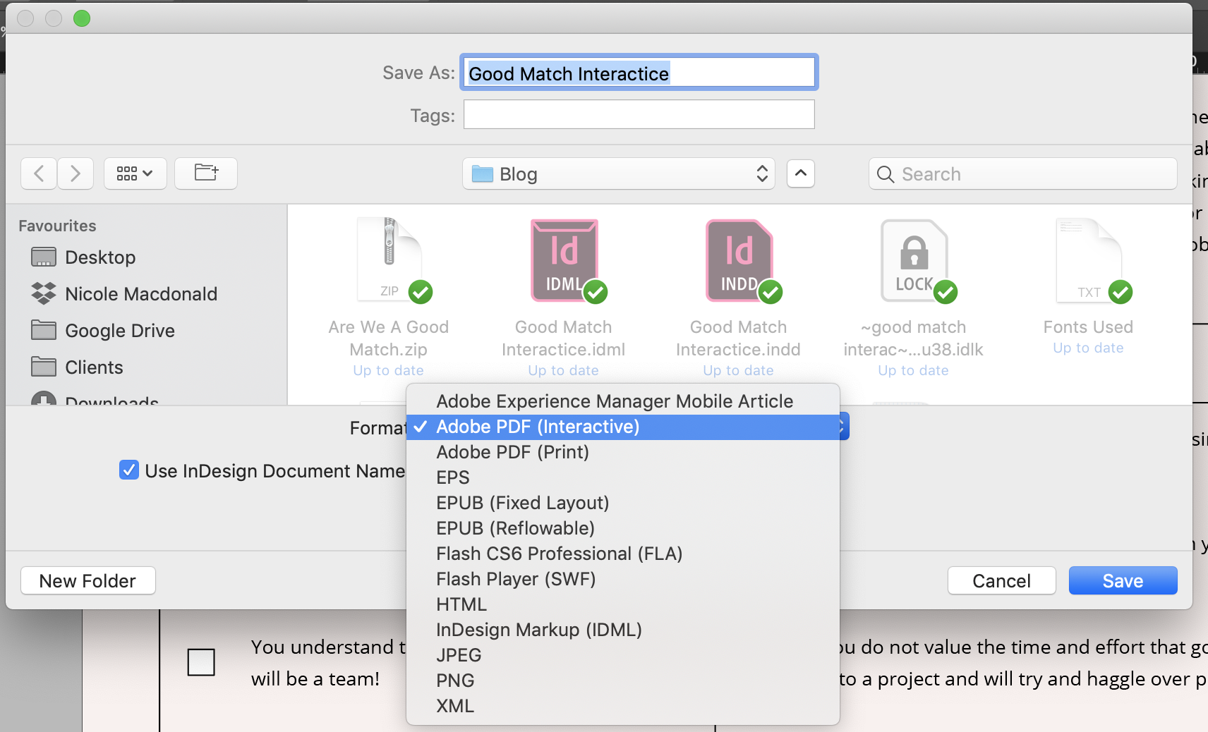 Export your file as an Interactive PDF to make sure the little checkboxes can be used online.