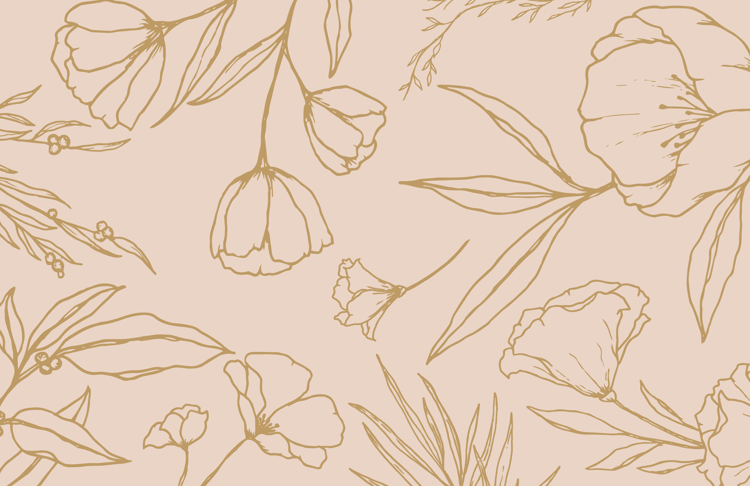 Wild and White Bridal brand pattern - by January Made Design