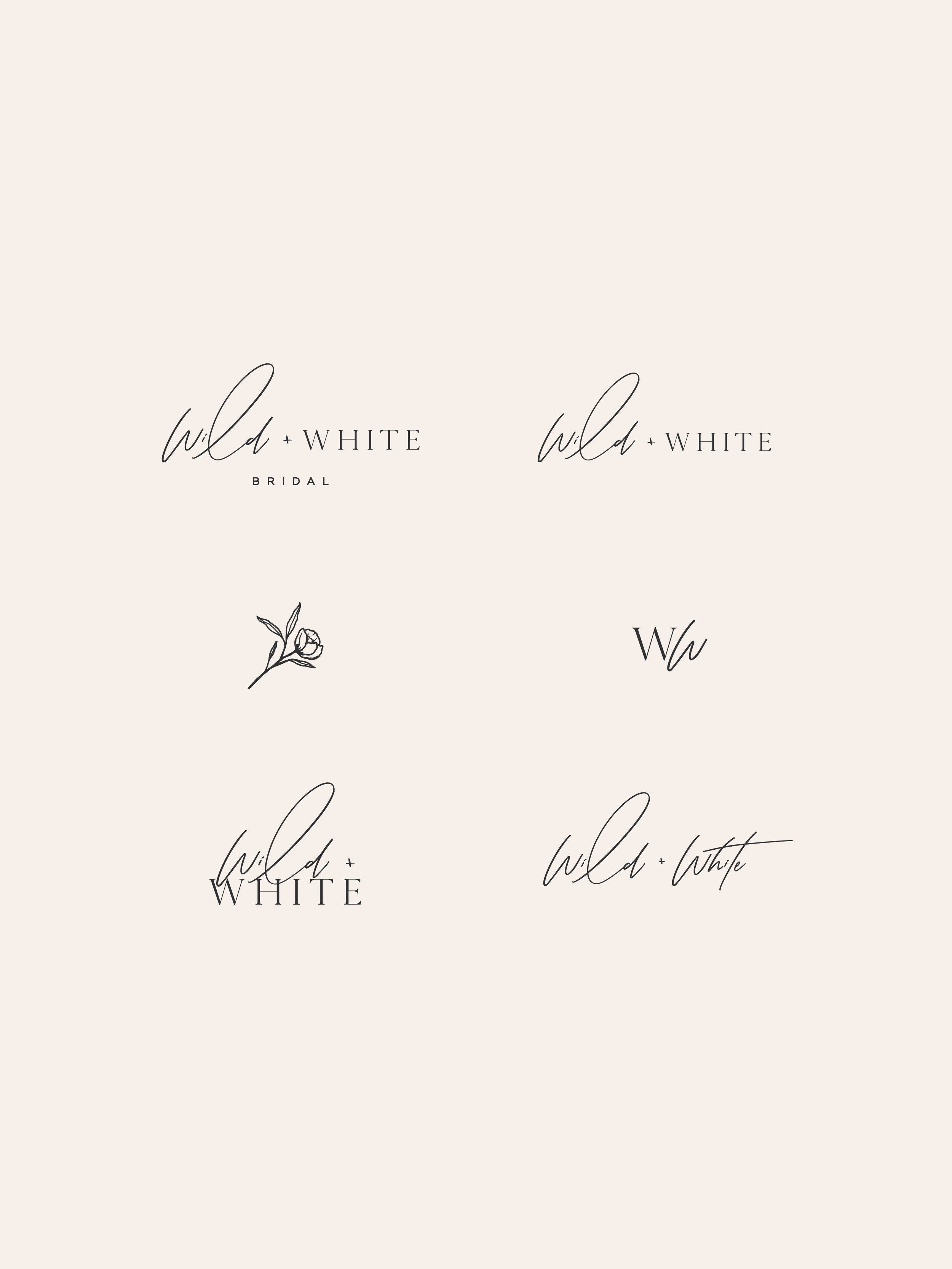 Wild and White Bridal brand elements - by January Made Design