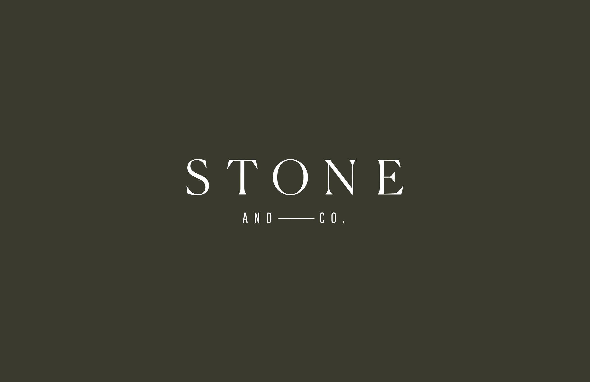 Stone + Co logo - by January Made Design