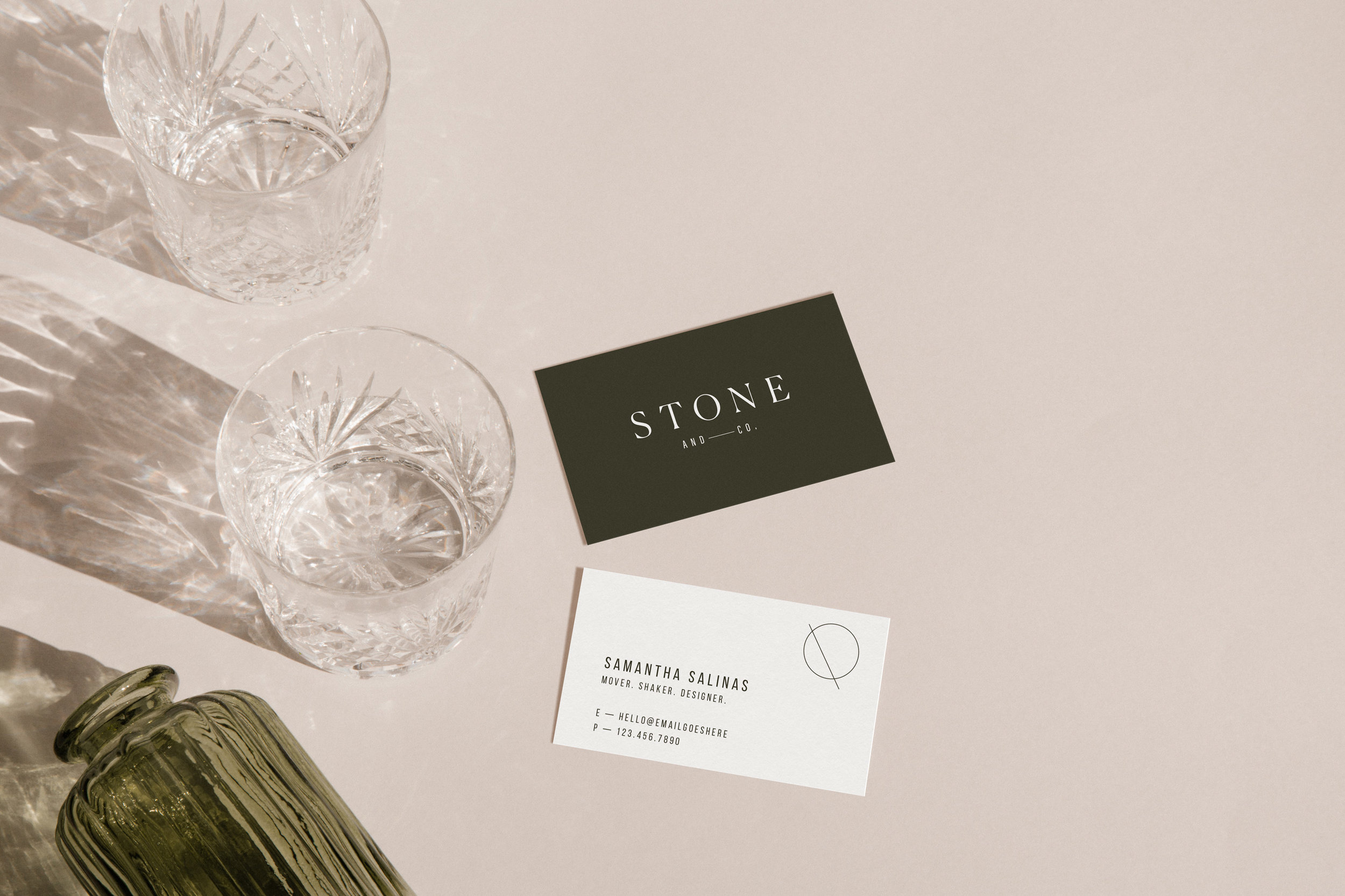 Stone + Co business cards - by January Made Design