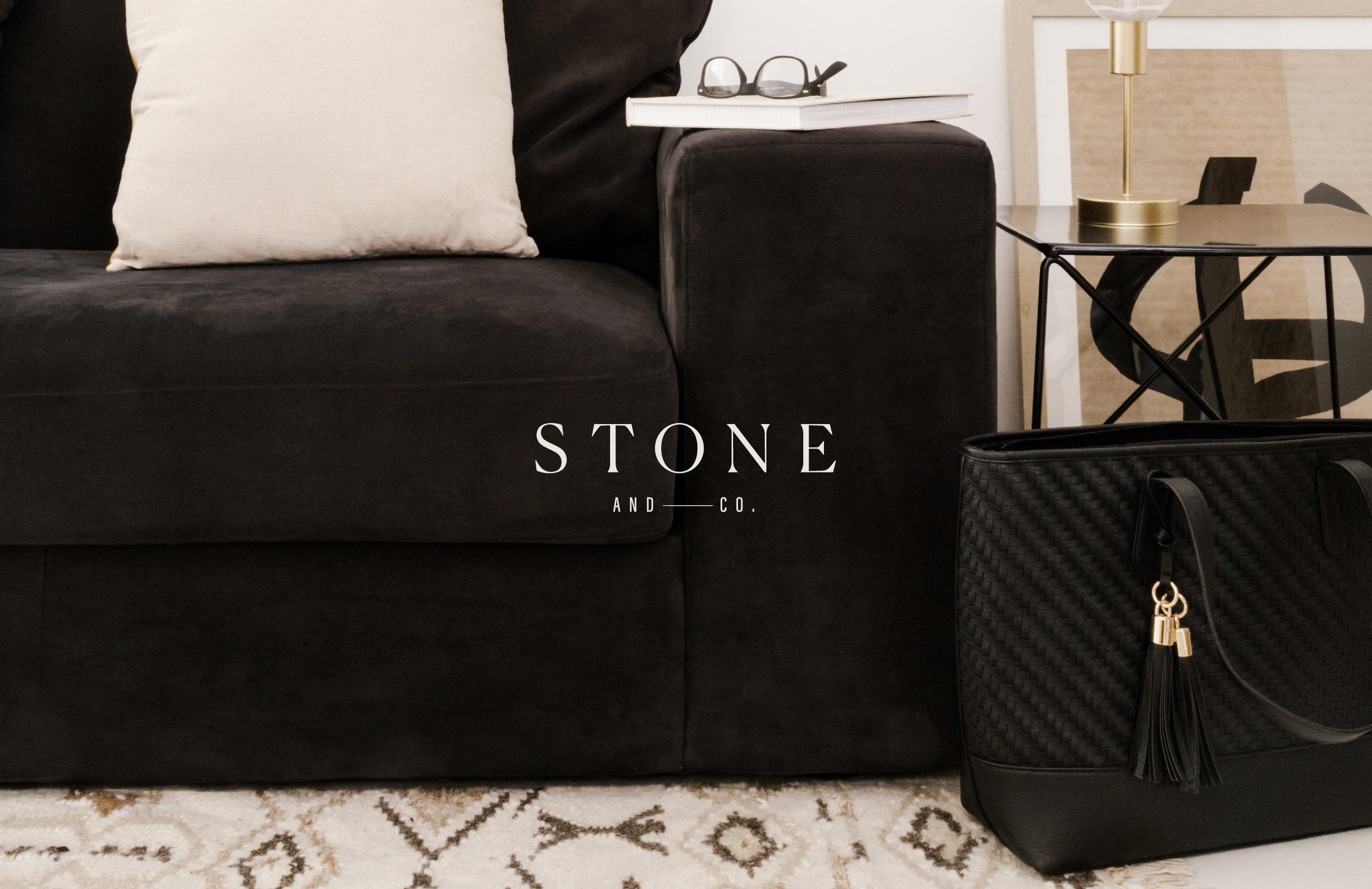 Stone + Co logo over image - by January Made Design