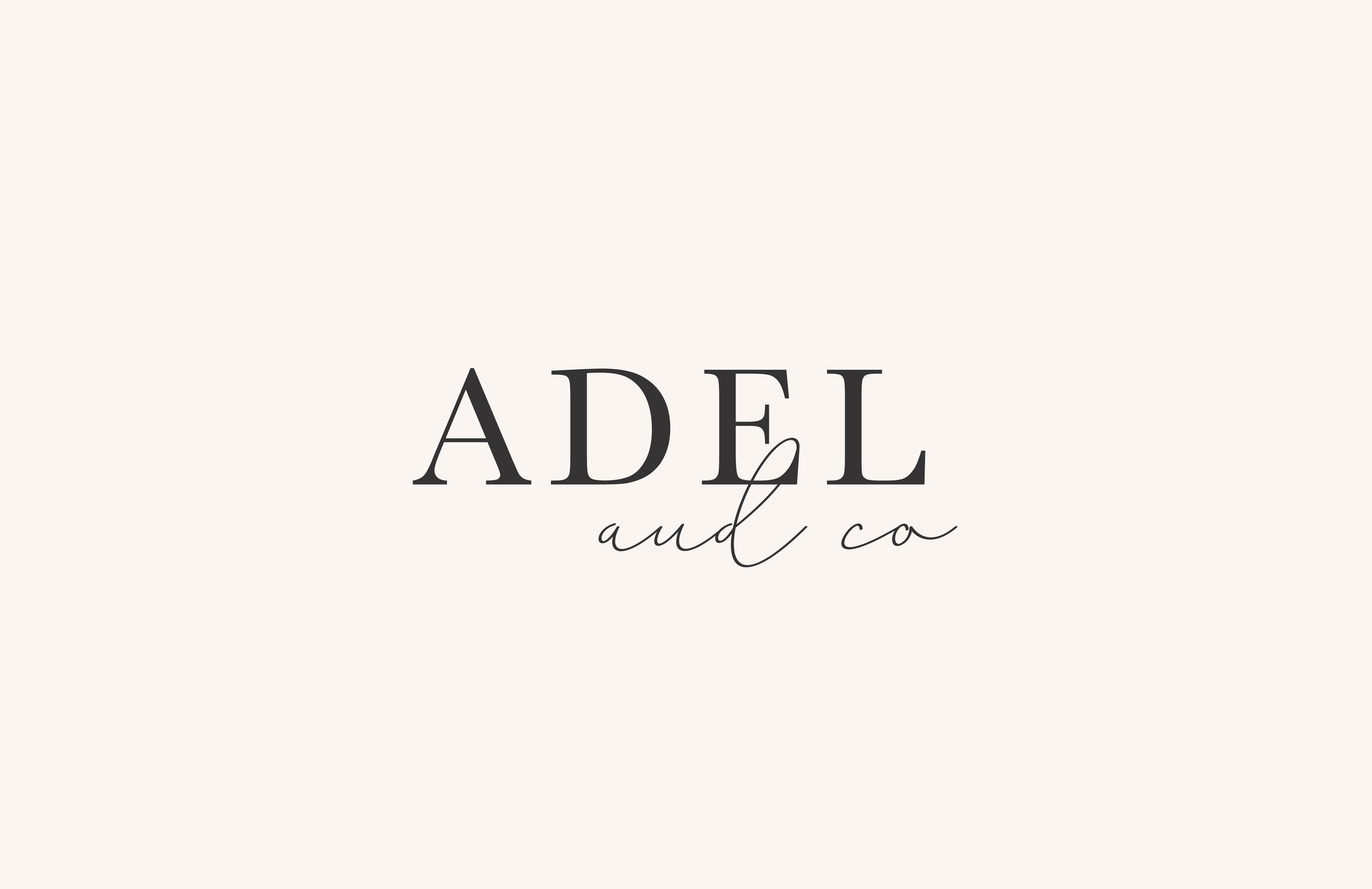 Adel & Co logo - by January Made Design