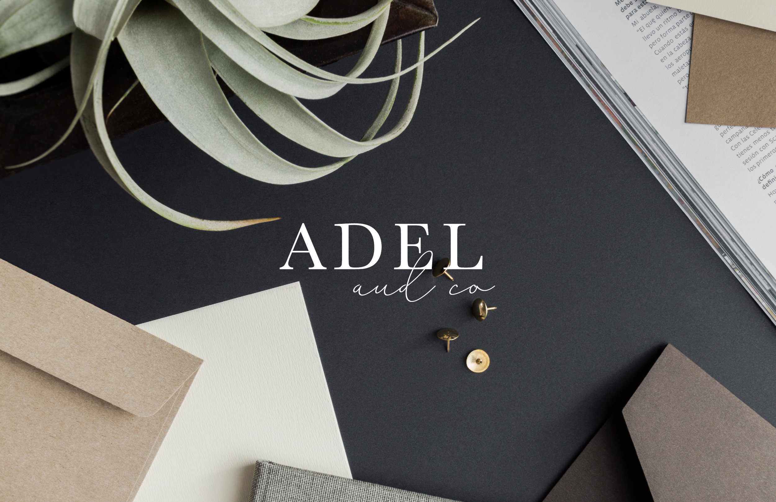 Adel & Co over image - by January Made Design