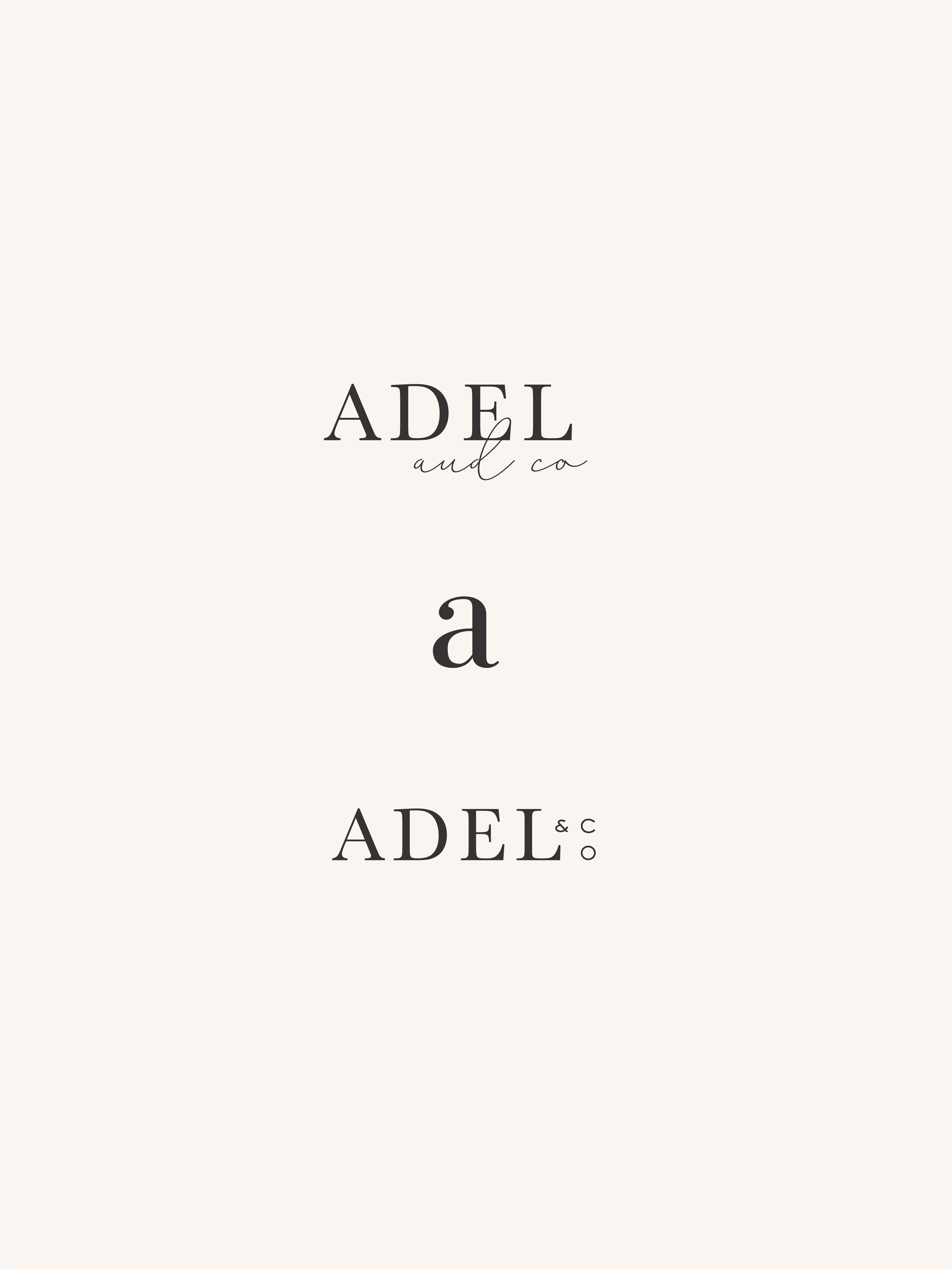 Adel & Co brand elements - by January Made Design