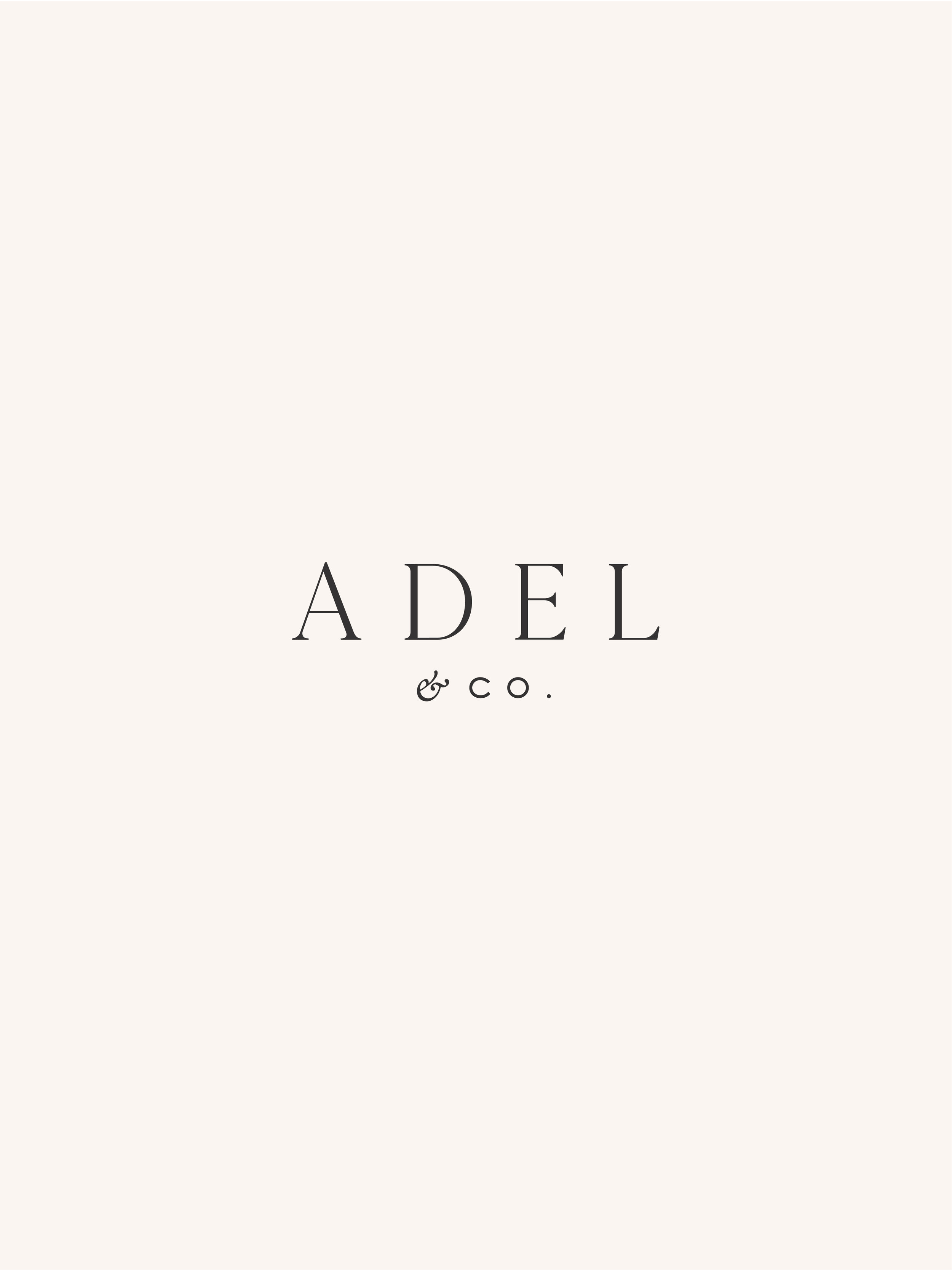 Adel & Co unused logo - by January Made Design