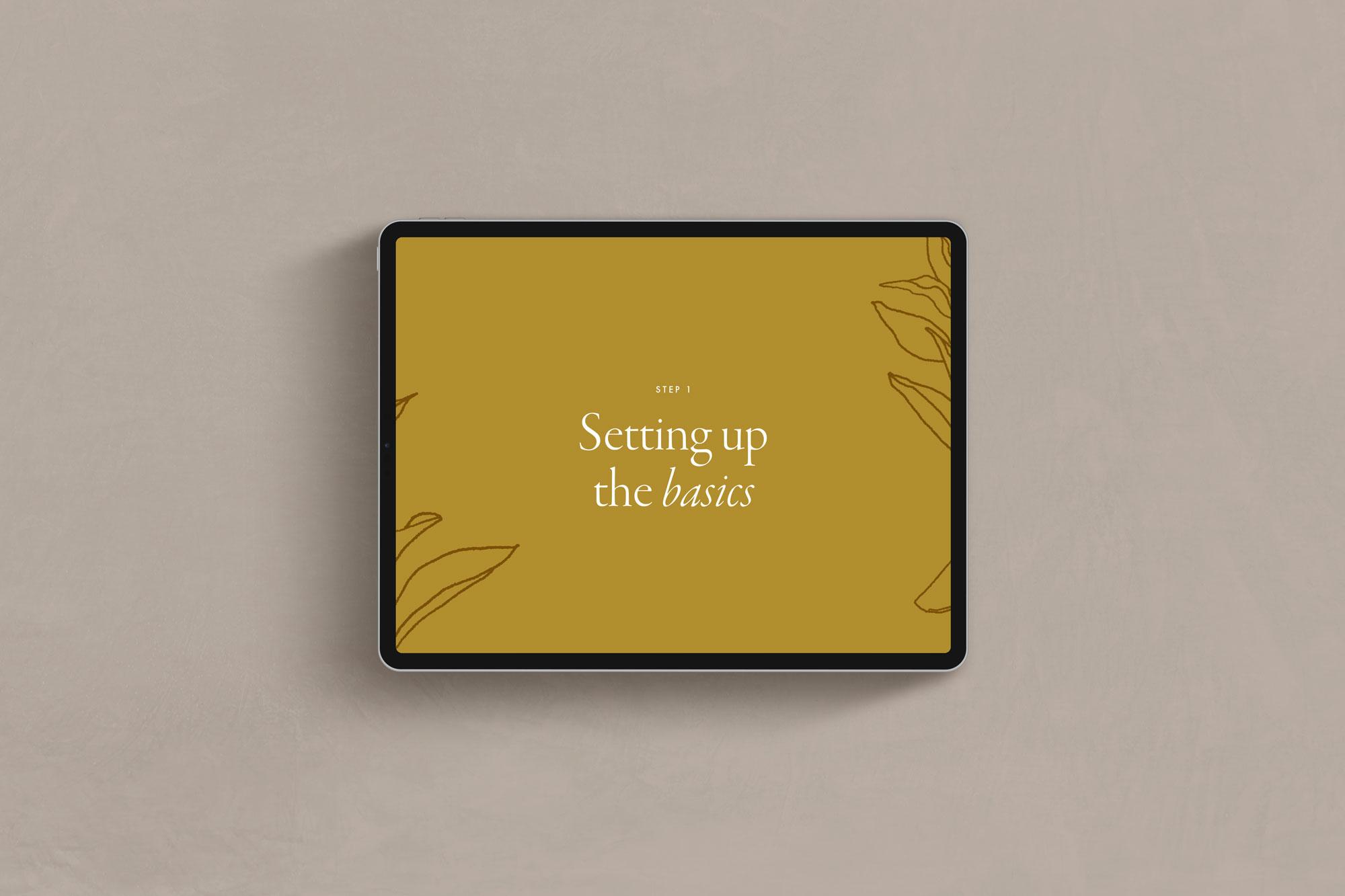 Setting up the basics -