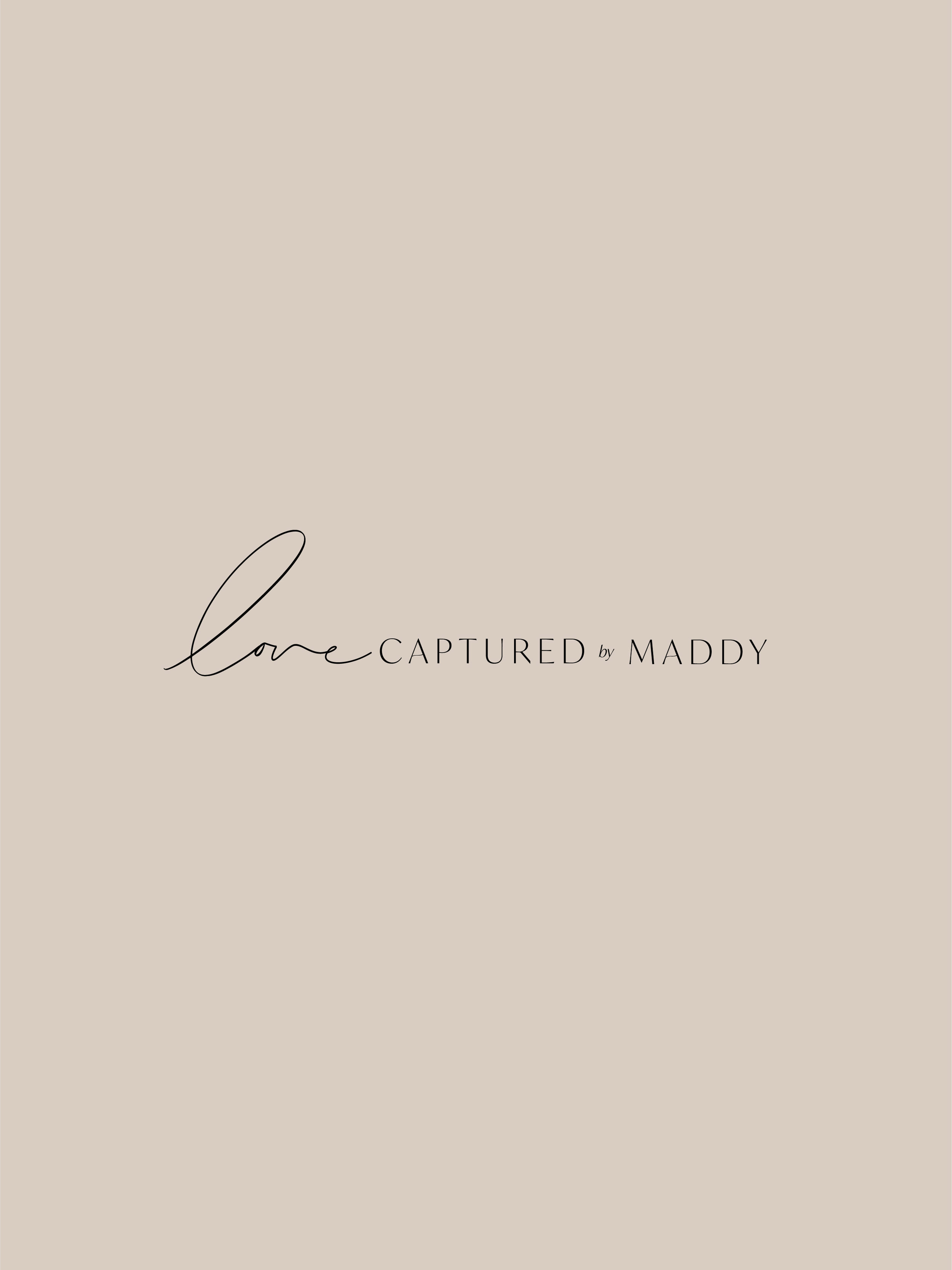 Love Captured by Maddy alternate logo - by January Made Design