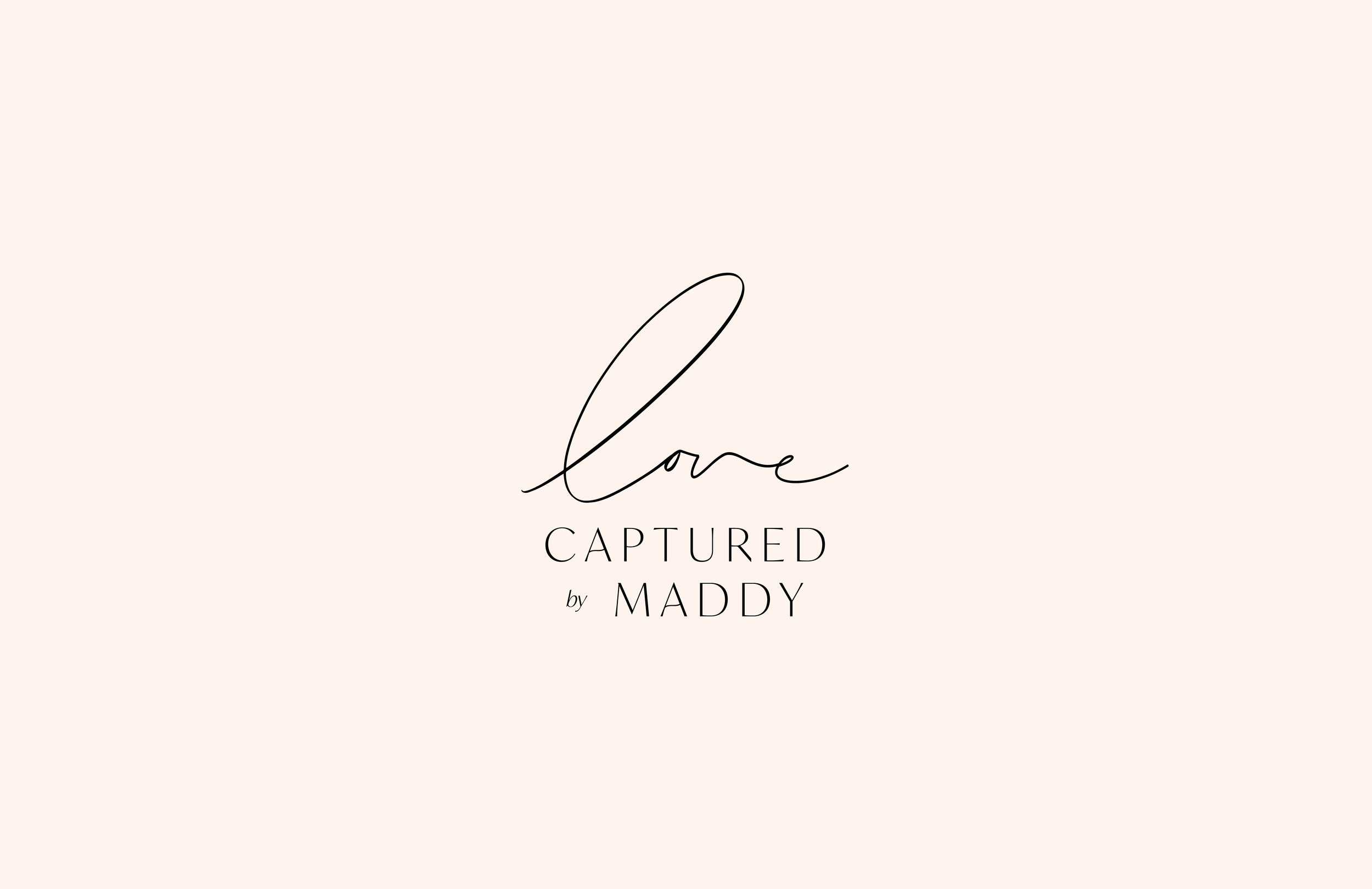 Love Captured by Maddy logo - by January Made Design