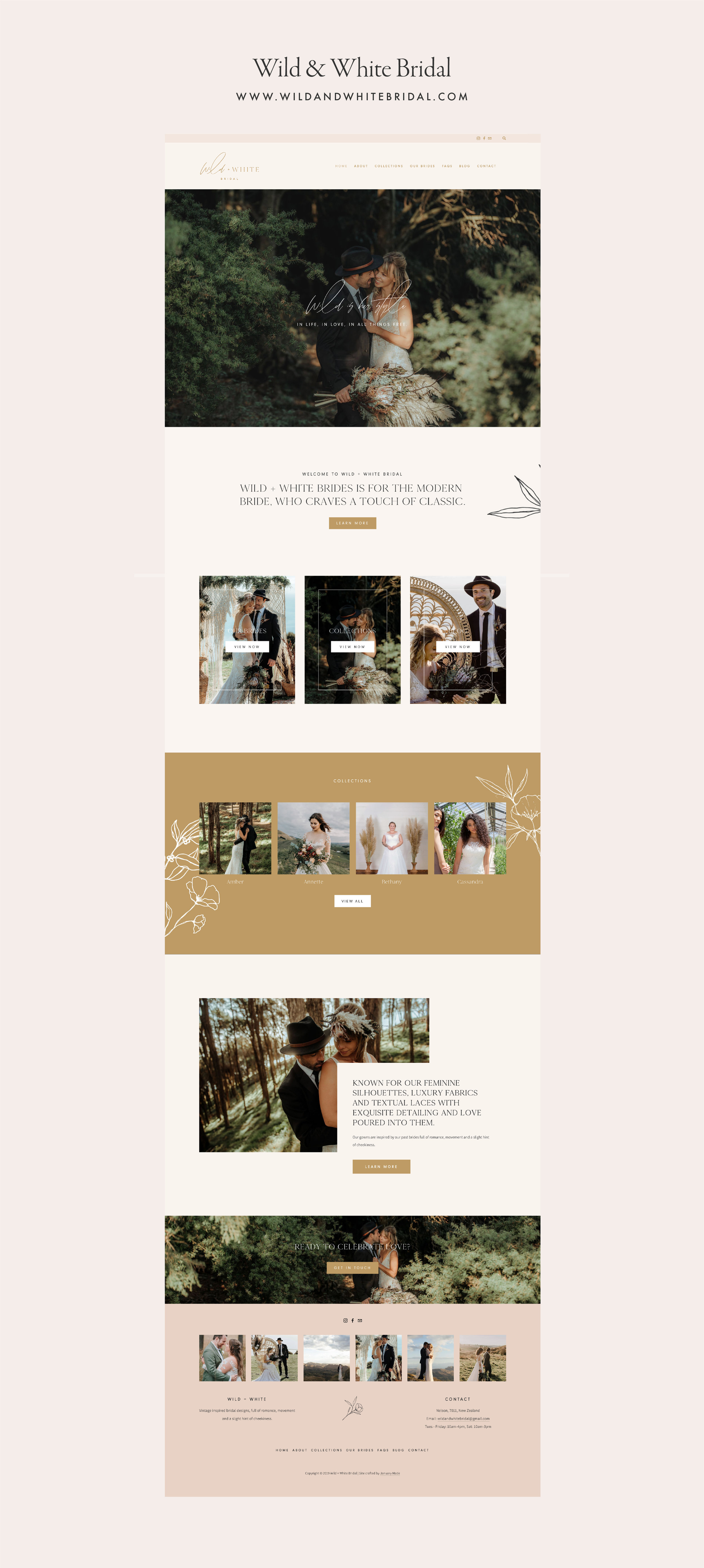 Wild and White Bridal website - by January Made Design