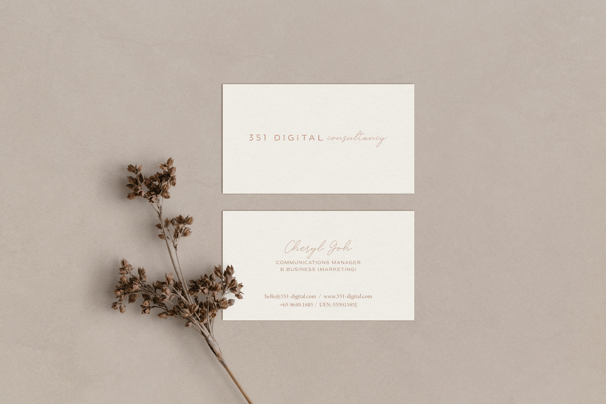 351 Digital Consultancy business cards - by January Made Design
