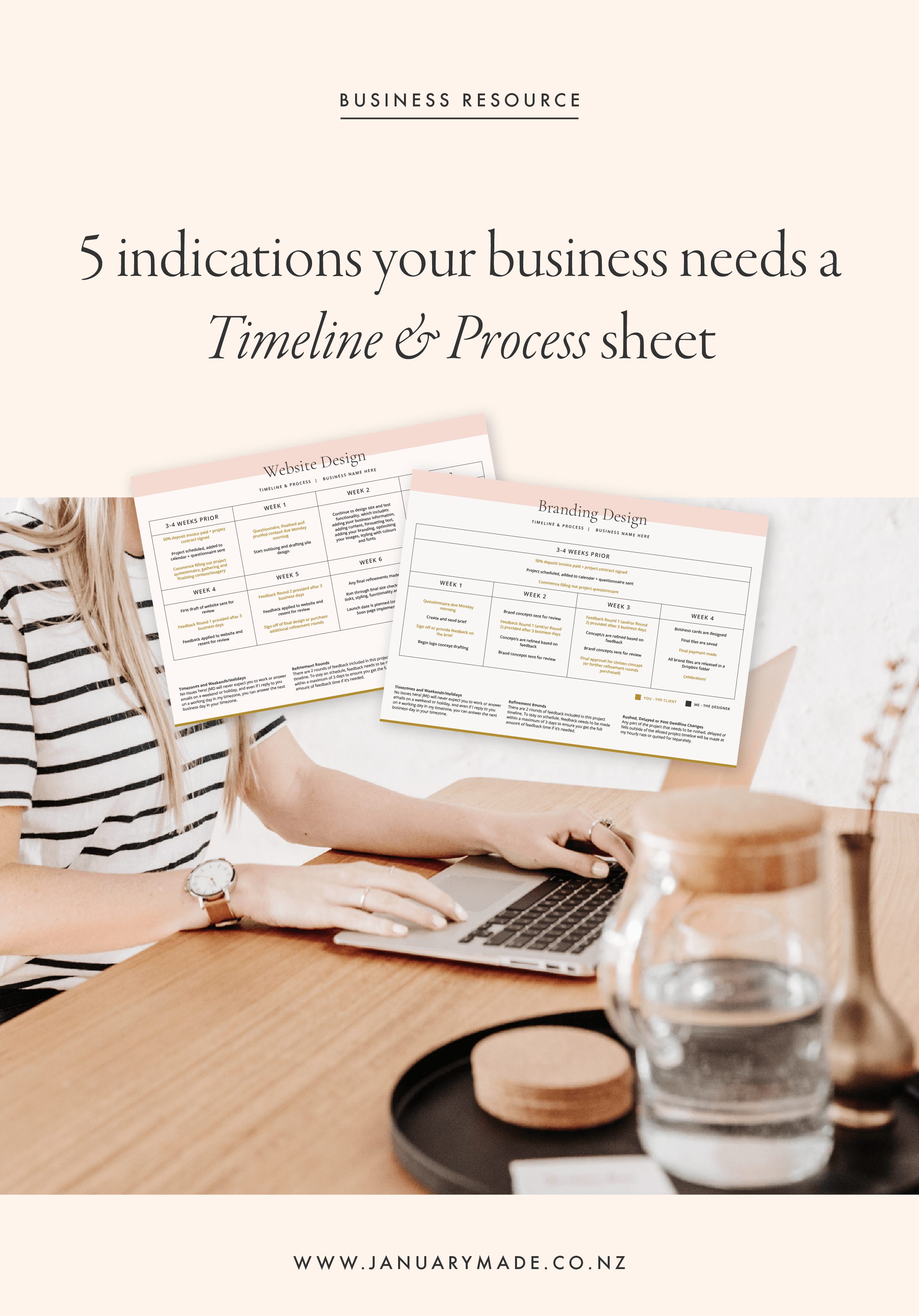 5 indications your business needs a Timeline & Process sheet