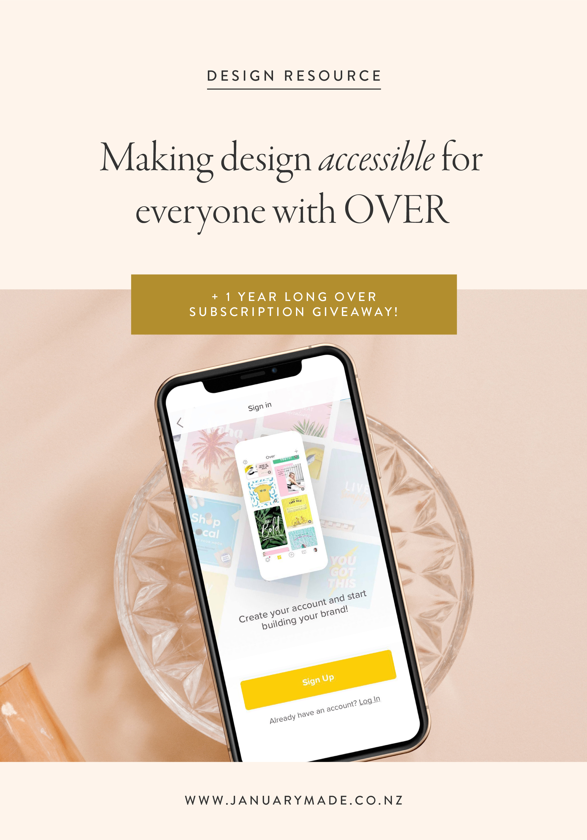 Making design accessible for everyone with OVER + huge giveaway!