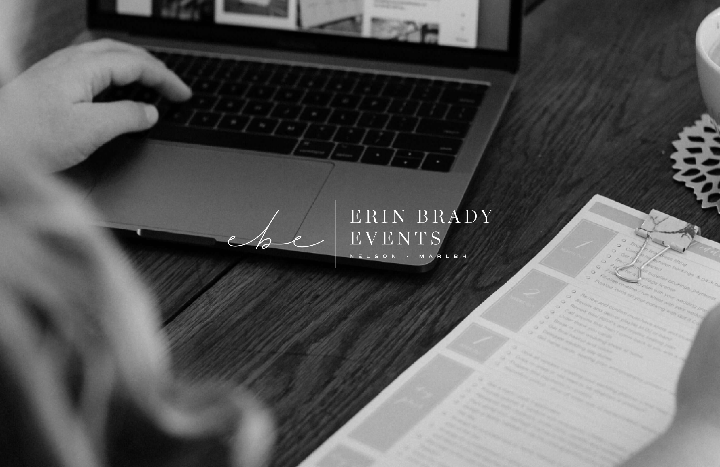 Erin Brady Events logo - by January Made Design