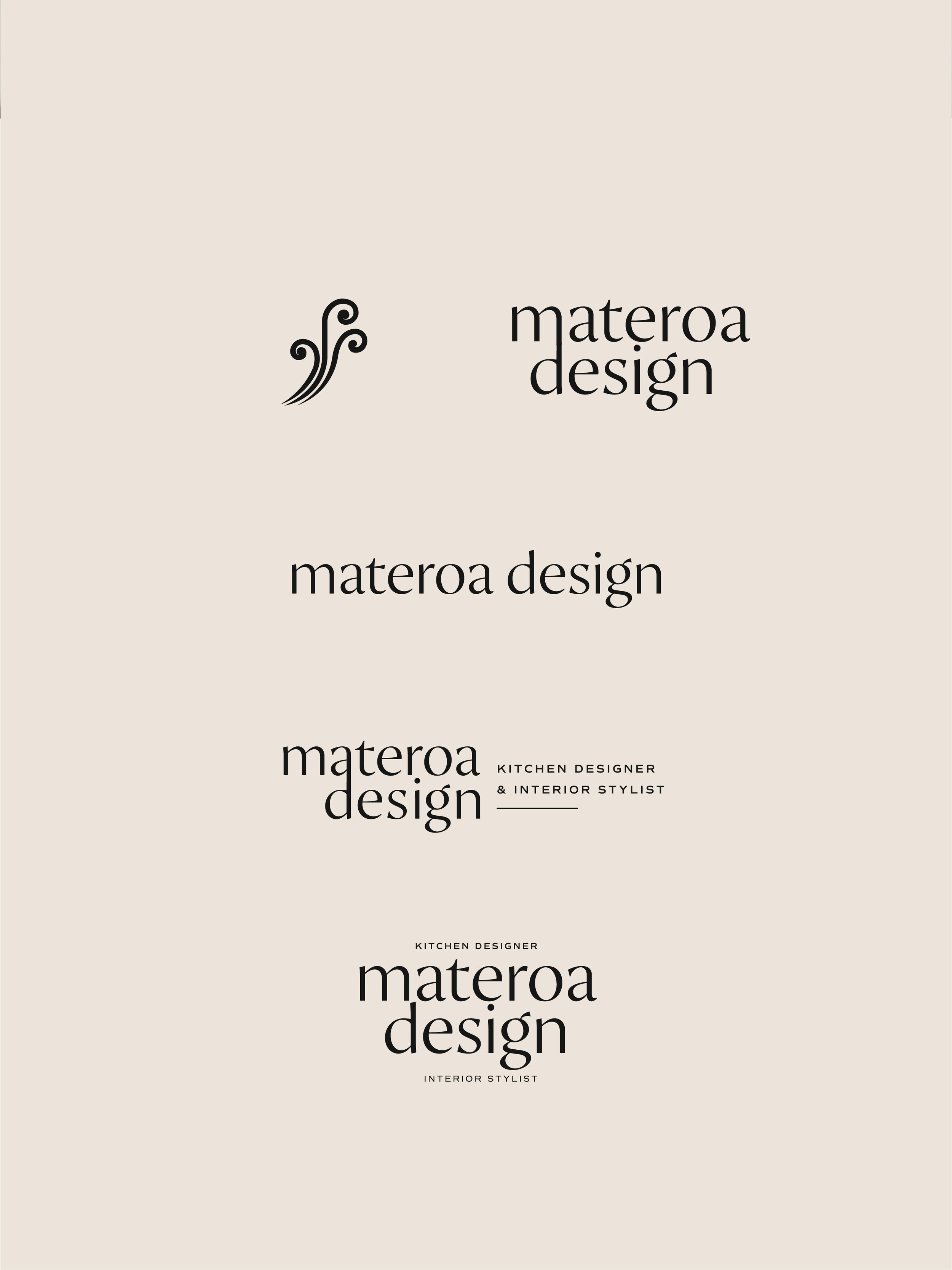 Materoa Design logo elements - by January Made Design