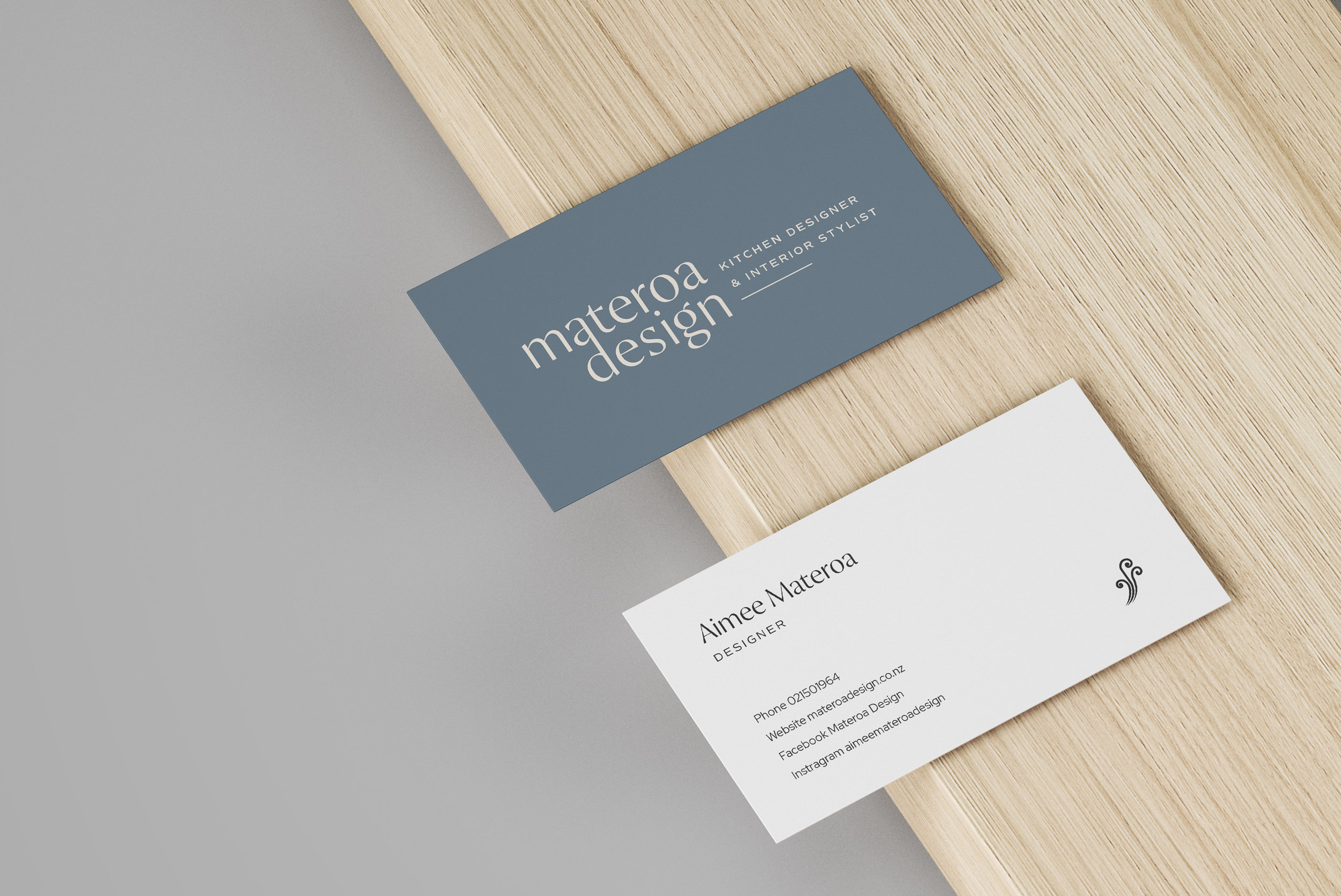 Materoa Design business cards - by January Made Design