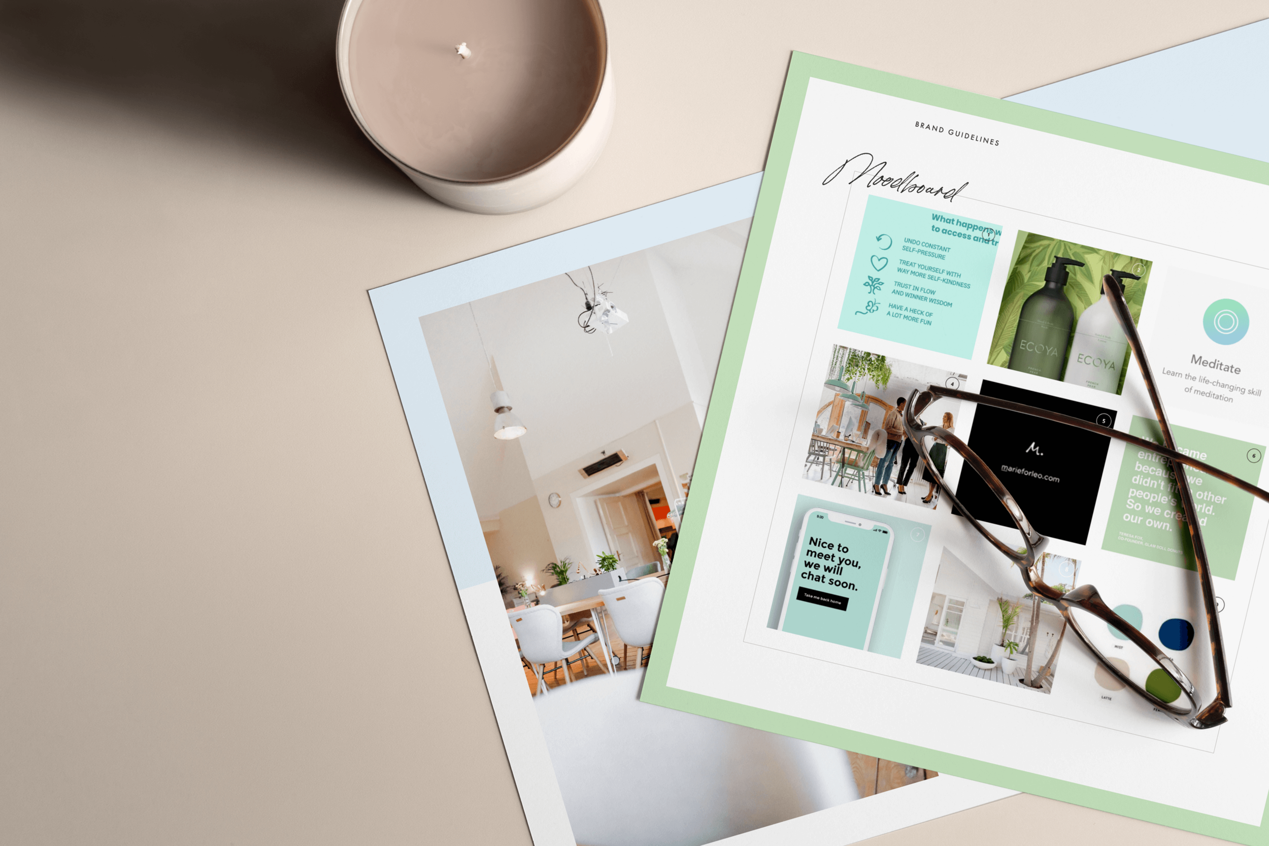 Vicki Evans Coaching moodboard - by January Made Design