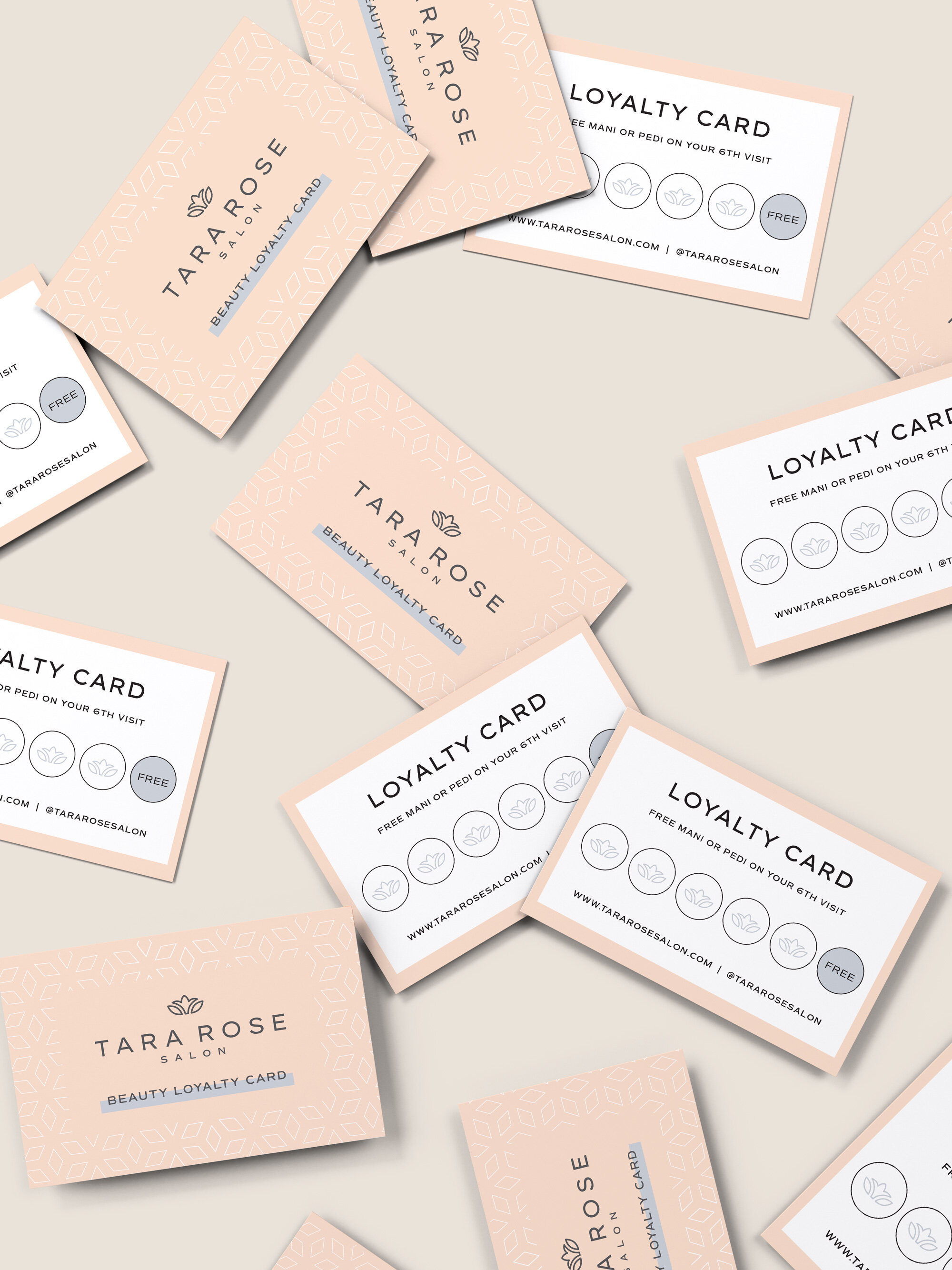 Tara Rose Salon loyalty card - by January Made Design