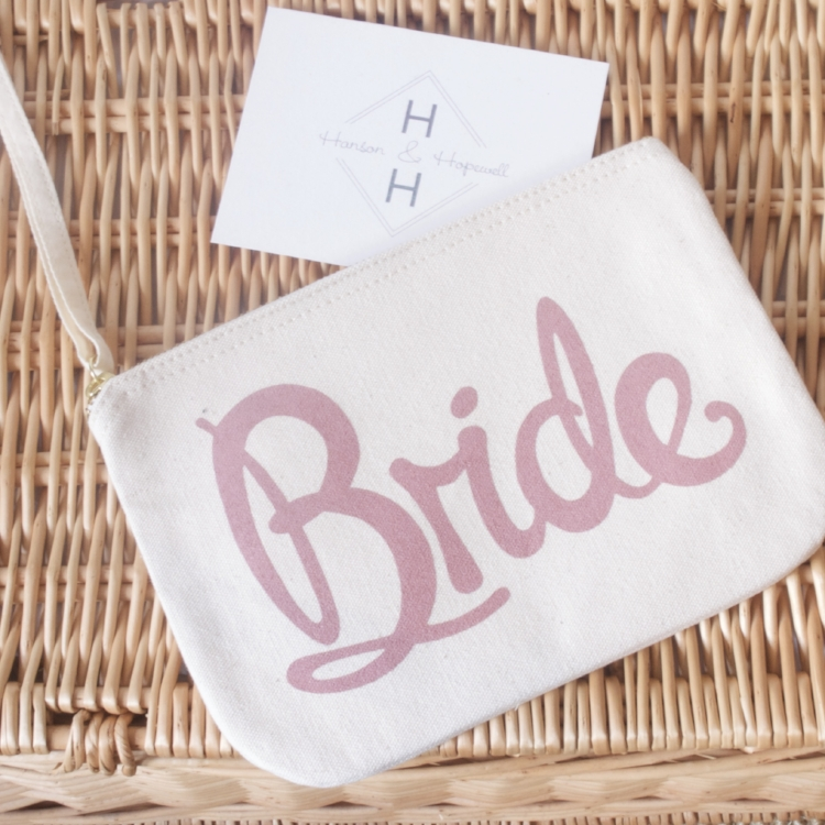 Alphabet Bridal Clutch bag in Plan & Engaged Gift Boxes