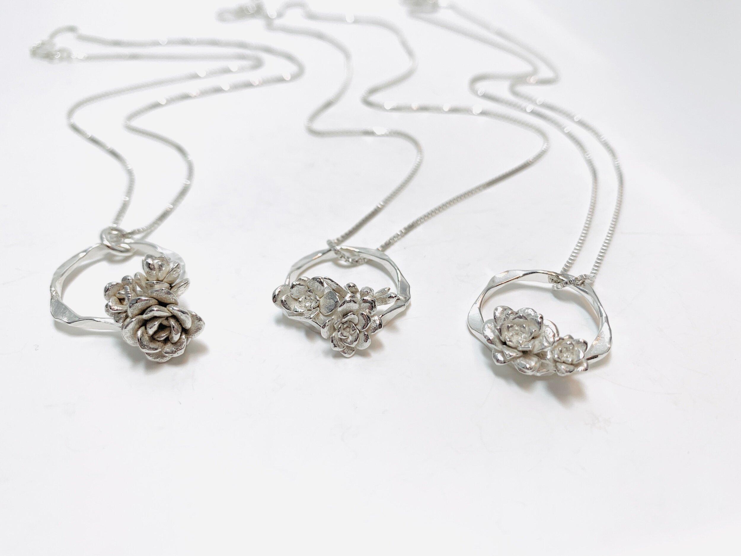 Succulent Pendant Necklace