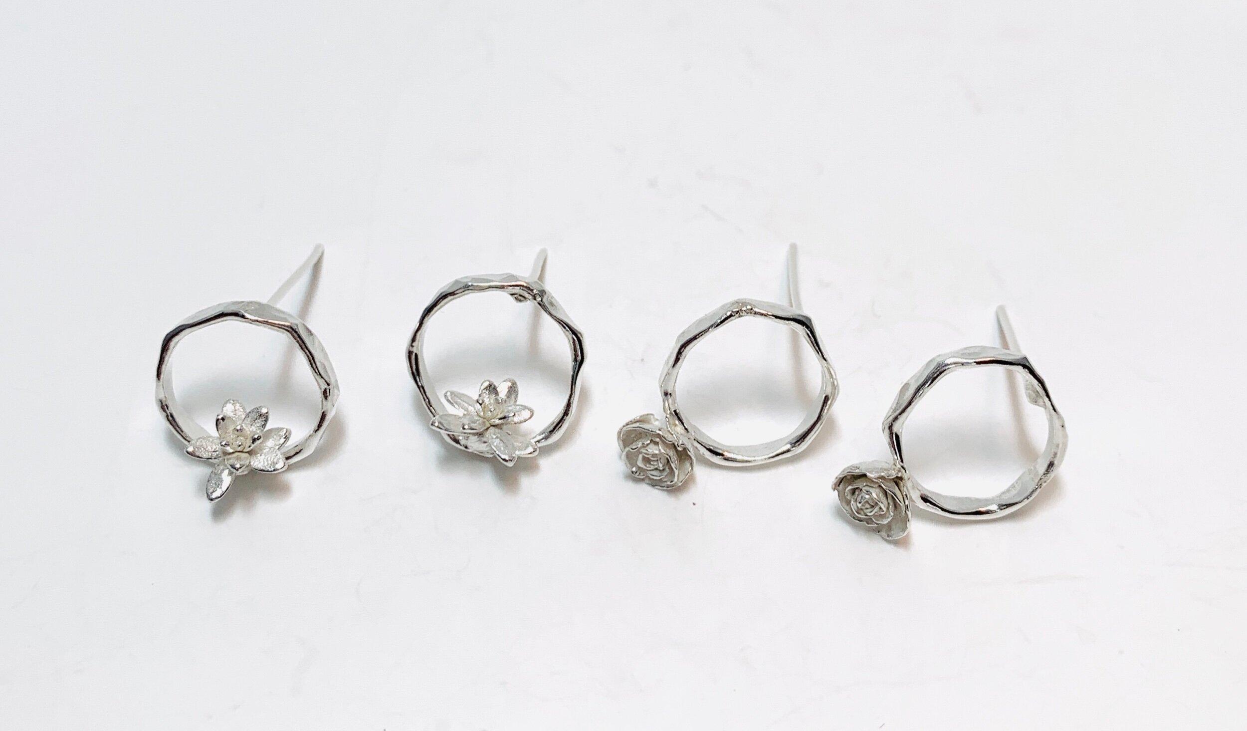 Circle Succulent Earrings