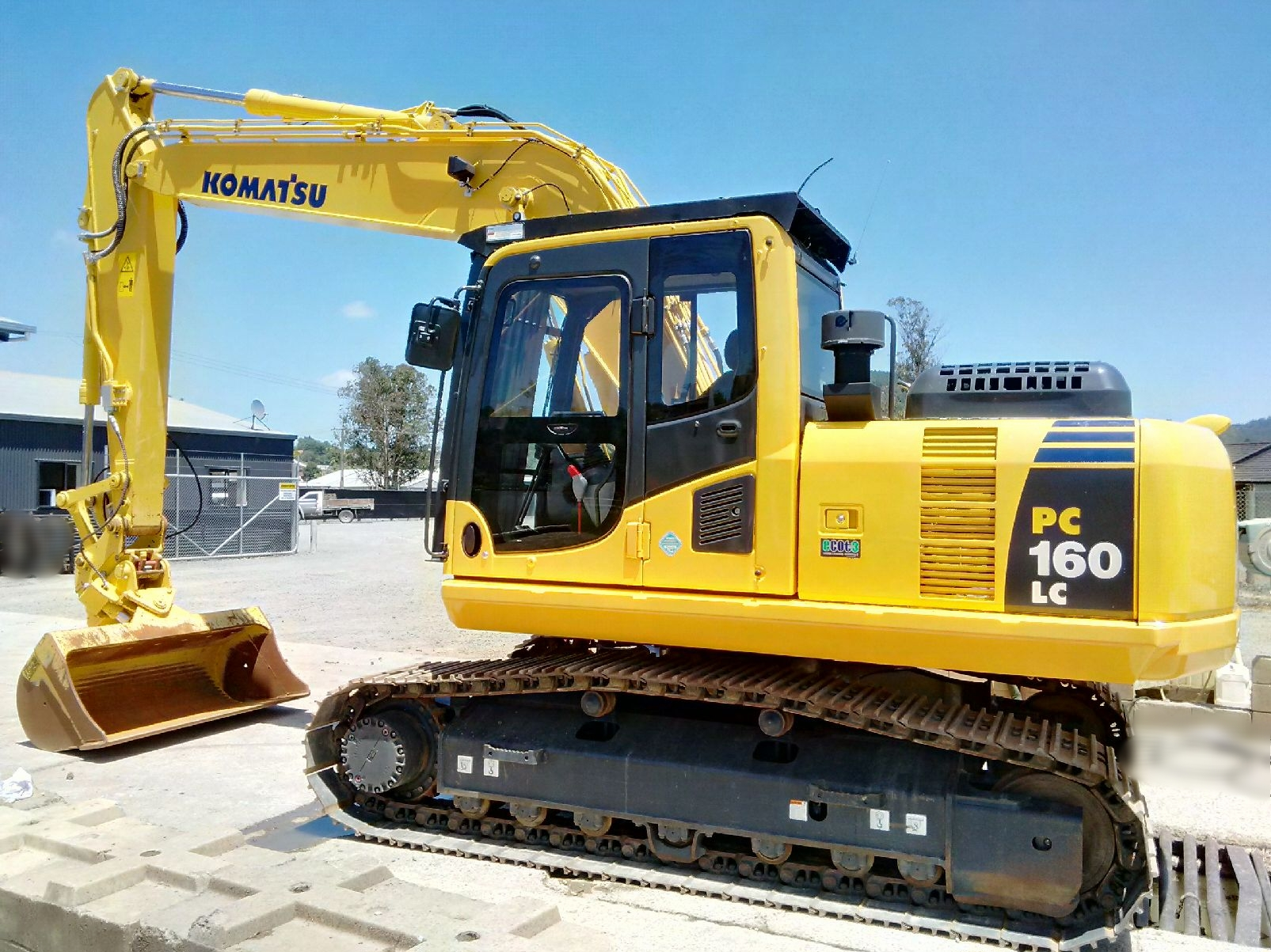 Forestry Guarding package - New OPS front grill, catwalks & marguard windows fitted to Komatsu PC160LC-8