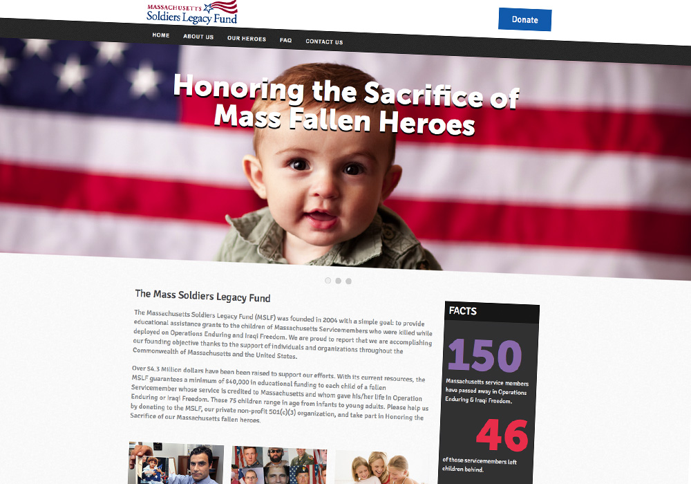 Mass Soldier's Legacy Fund Web Design and Front-End Engineering