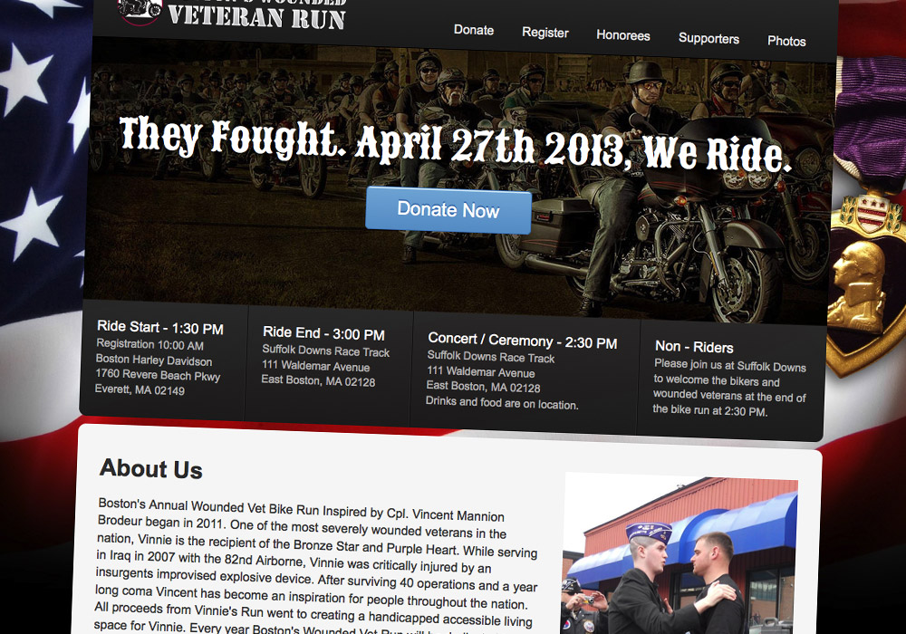 They Fought We Ride Web Design and Front-End Engineering