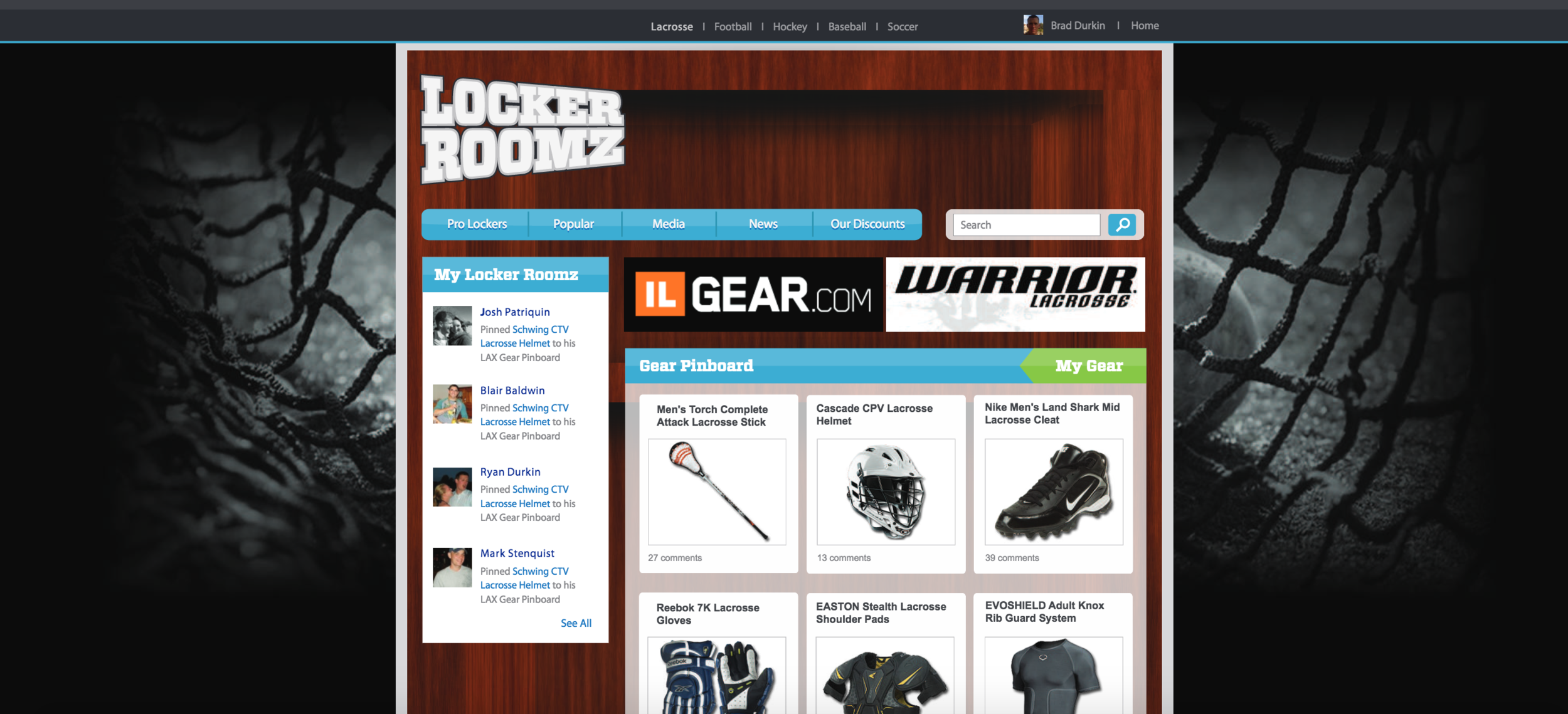 Locker Roomz Web Design