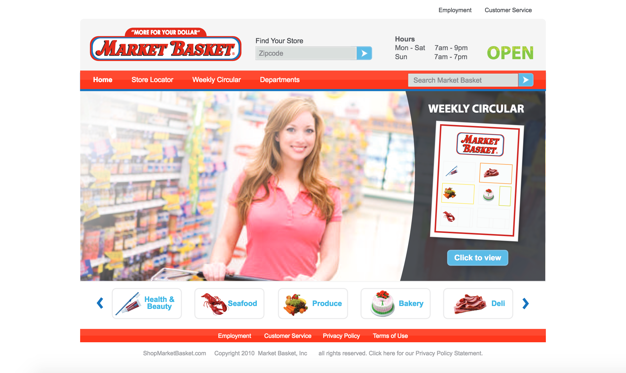 Market Basket Web Design and Front-End Engineering