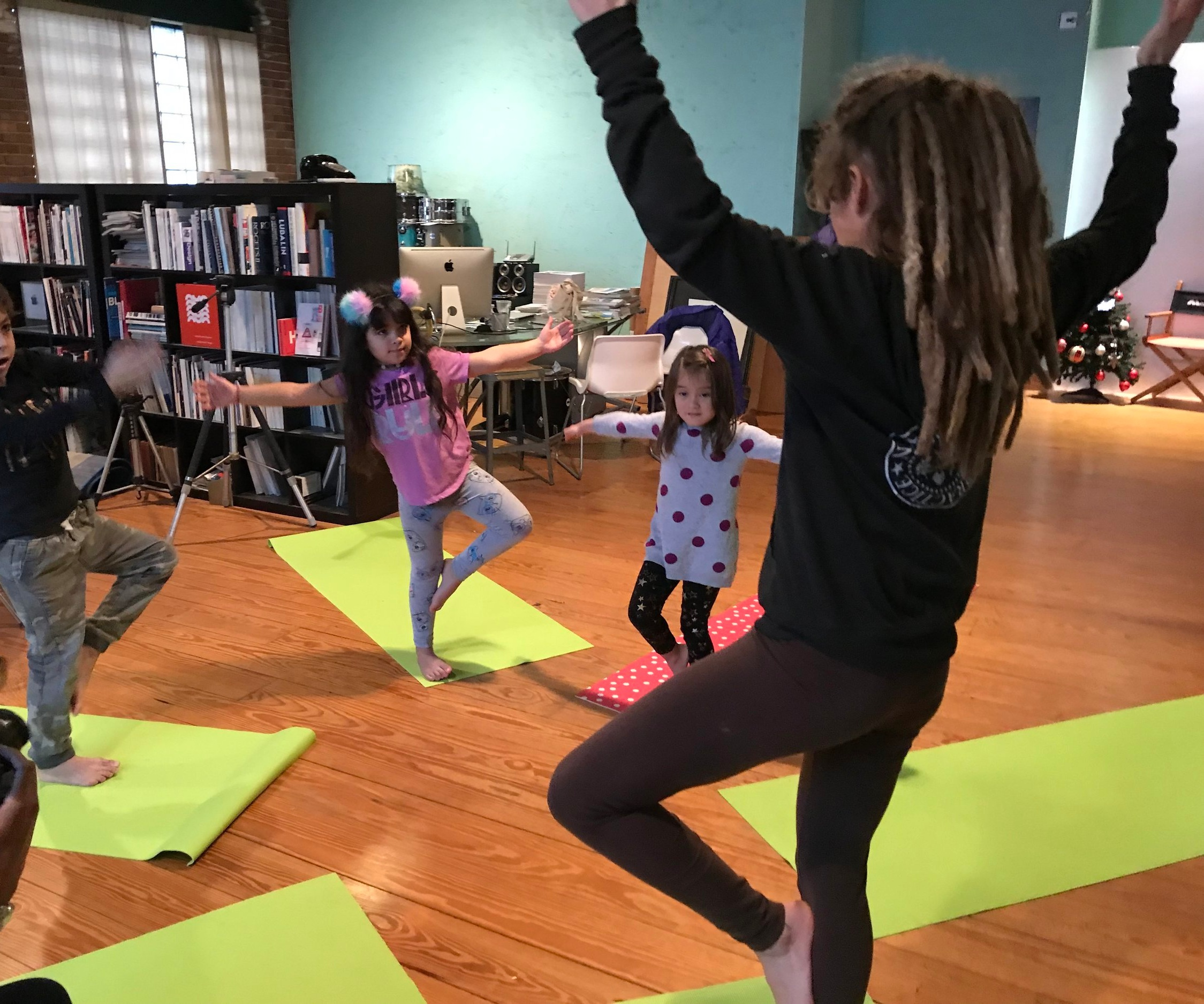 Colorful Kids Yoga - A weekly kids yoga and art class designed to teach inner-city youth the benefits of movement, breathing, calming skills, and self-esteem.