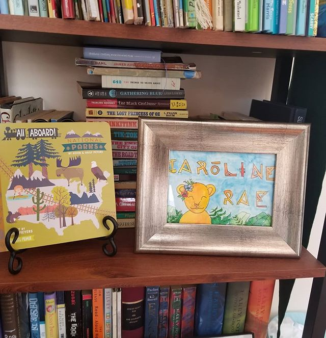 The most adorable nursery decor, courtesy of @ejhustonart! We love Caroline's sign, EJ!  People, I believe EJ is accepting special projects if you're looking for unique gifts!  #sweetcaroline #supportart #nurseryart #babyart #babyshowergift #nurseydecor #babygirl