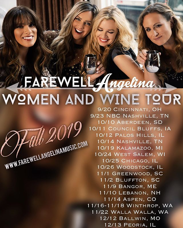 Happy #thirstythursday everybody ... our fall leg of the #womenandwine tour kicks off ⓣⓞⓜⓞⓡⓡⓞⓦ !!! In #cincinnati #ohio at @pearlscincy 🍷🌟✨ hope to see y'all on the road soon 🚌 @farewellamusic