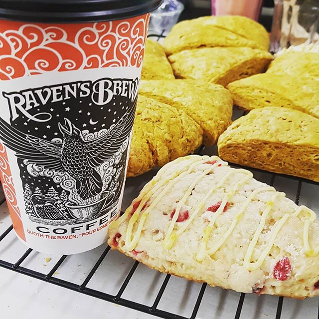Picture says it all! And its right here in cordova !  #scones #tlcbakery #ravensbrewcoffee #morningdoneright #yum