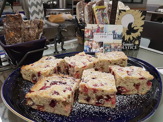Good morning, Cordova! We have delicious, moist Cranberry Coffee Cake. Goes great with your favorite Raven's Brew coffee! #coffeecake #cranberry #pecan #ravensbrewcoffee #cranberrycoffeecake