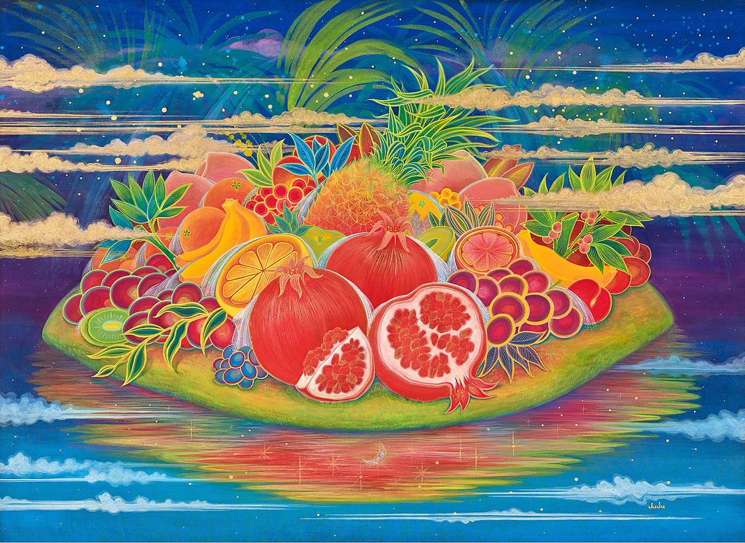 Hyunju Kim,  Fruits Paradise,  100cmx72cm, 2017
