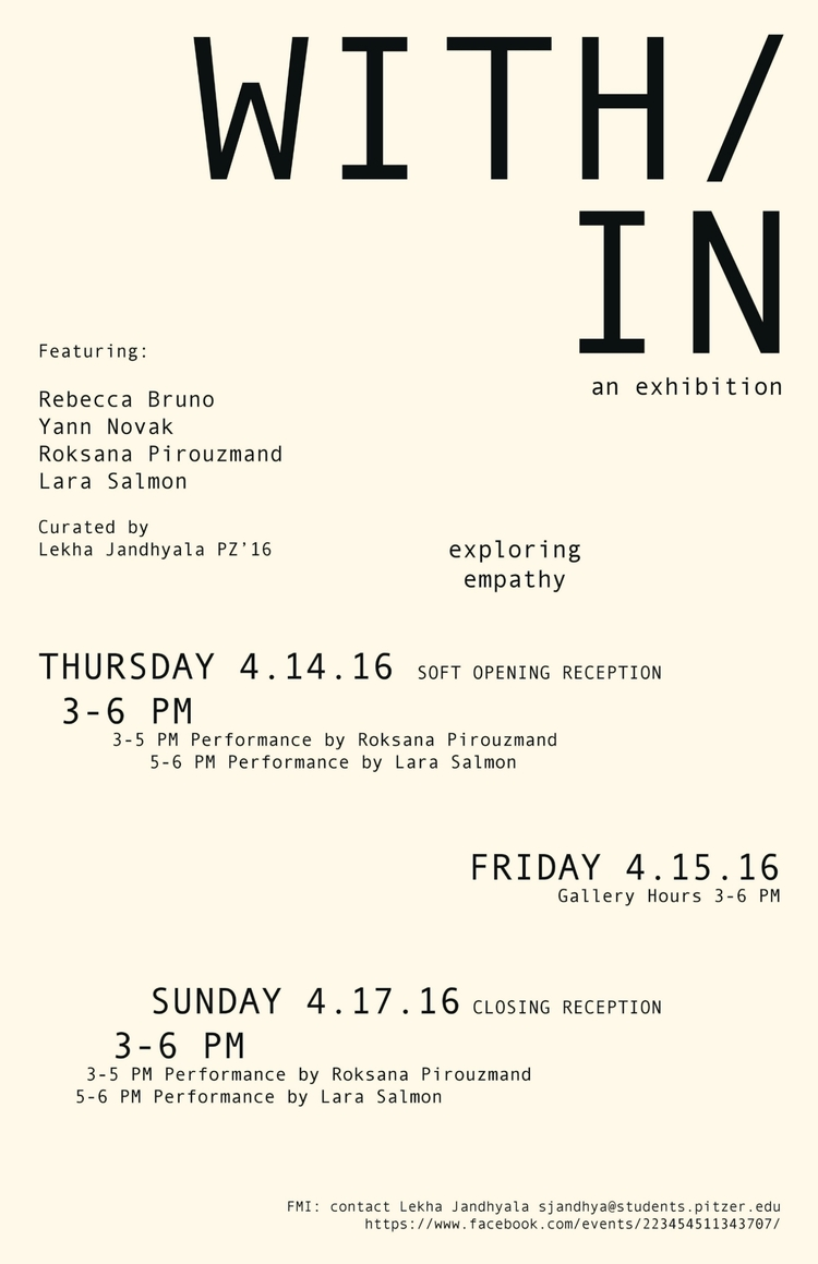 Curator  WITH/IN - an exhibition on empathy  [2016]