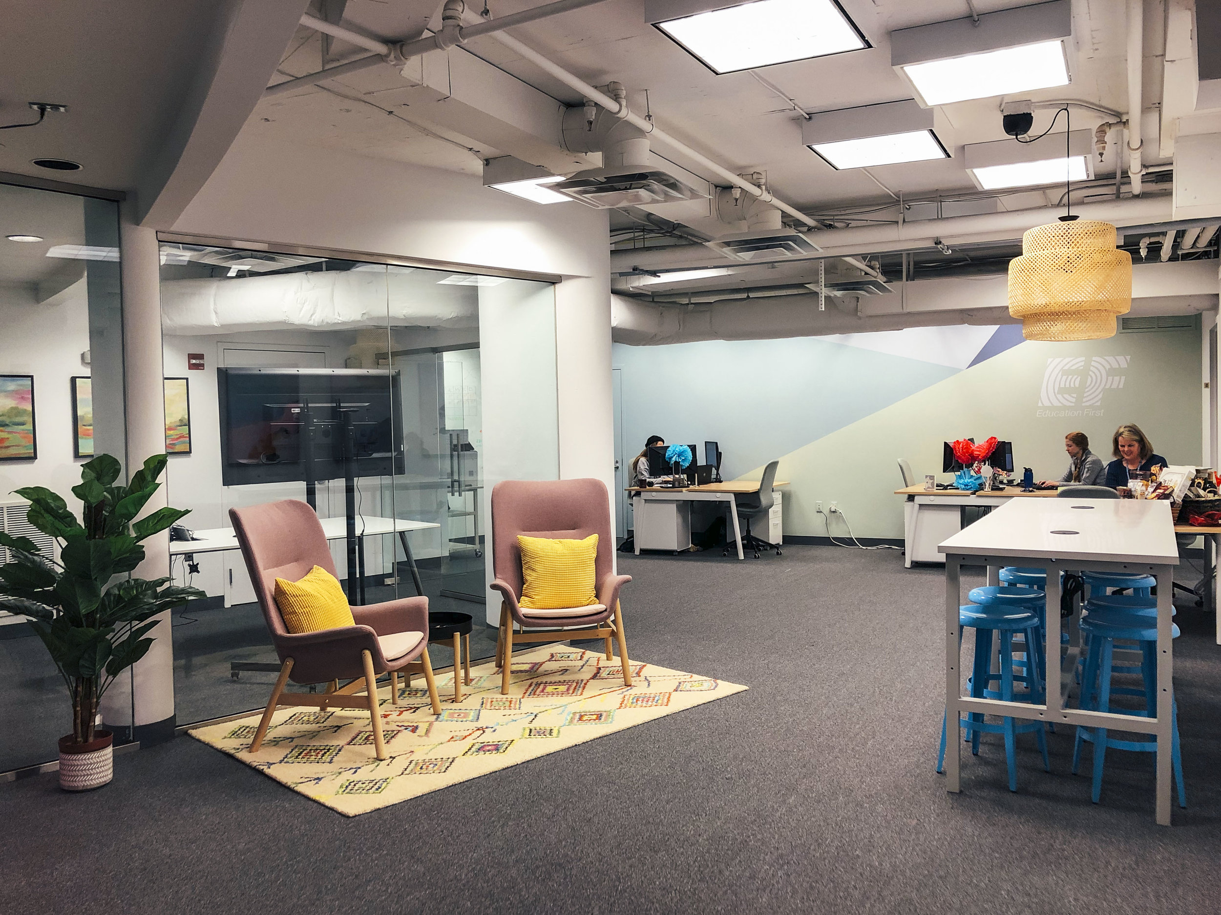D.C. Office space - As the lead designer for spaces at EF Tours, I got a chance to furnish and design the space of a small remote office in Maryland.