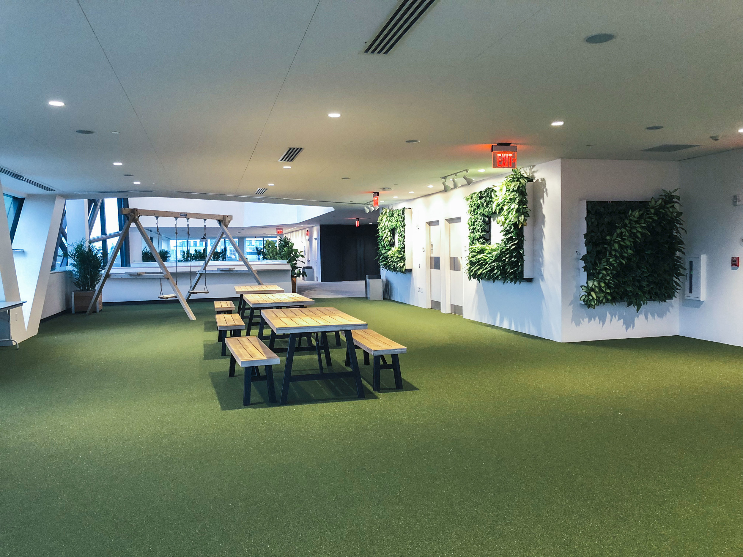 Events space design - Designed an empty floor at the EF Boston Headquarters in Cambridge, MA to accommodate team events and lectures that are provided for employees and the public.