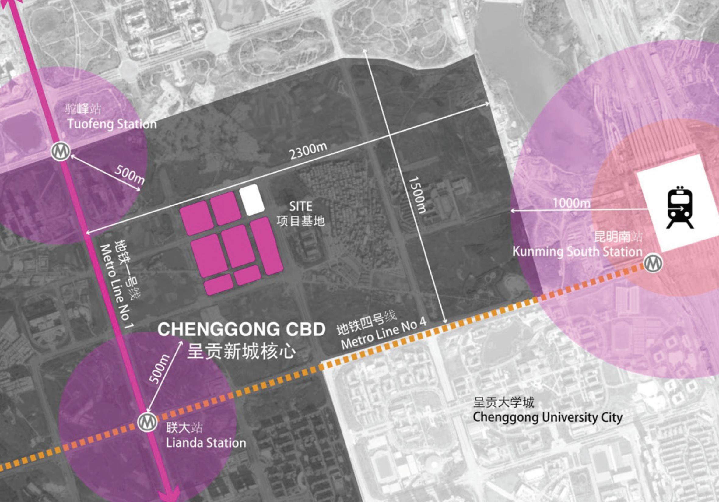 Chenggong CBD District 呈贡核心区