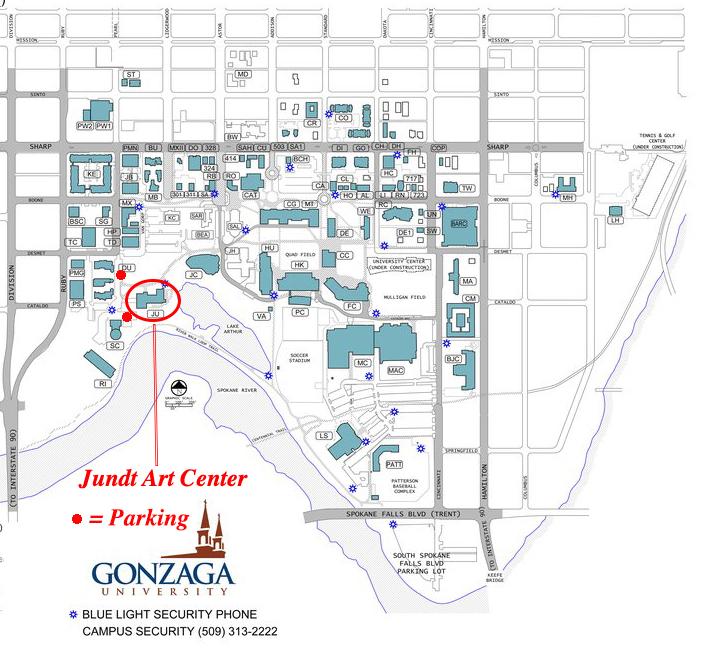 gonzaga university campus map Spokane Workshop At Gonzaga Washington Clay Arts Association gonzaga university campus map