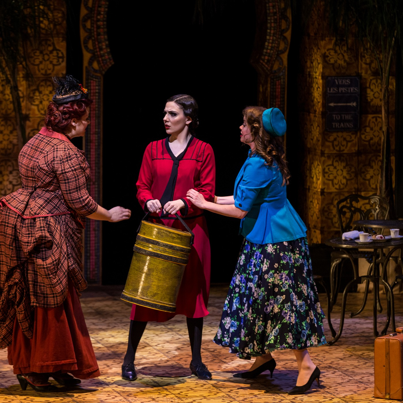 """Lady with the Hat Box of """"Postcard from Morocco"""" with Christina Bell and Karine White 