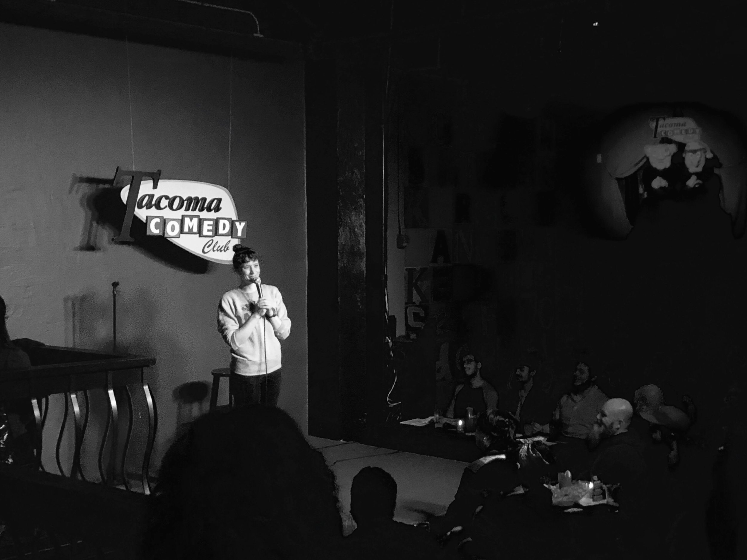 - June 18 | Vino Bella Wine Bar | Issaquah*June 21, 9pm | Comedy @ Shakabrah Java | Tacoma*June 25, 730pm | New Talent Tuesday @ Tacoma Comedy Club | Tacoma*June 26, 730pm | Open Mic @ Tacoma Comedy Club | TacomaJune 26, 830pm | Seattle's Best @ Comedy Underground | SeattleJuly 20, 9pm | NW Peaks Comedy Night @ NW Peaks Brewery (Hillman City) | SeattleStay tuned for more dates. Thank you for supporting live comedy. See you soon!* indicates open mic or free showcase
