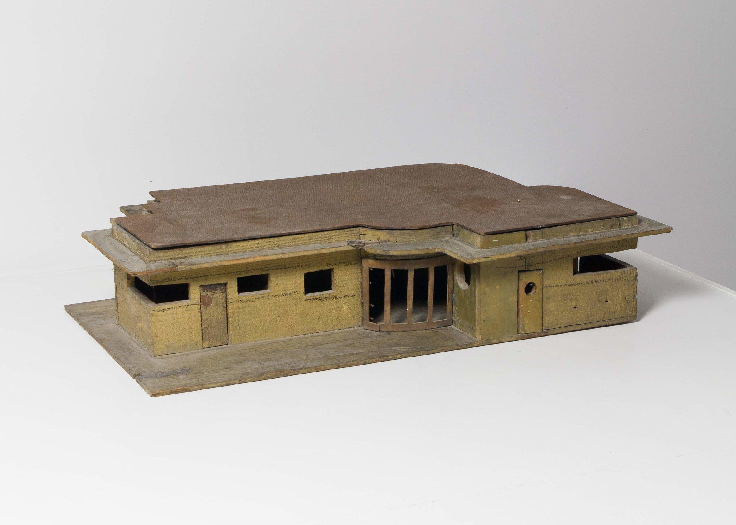 1930s Handmade Modernist House Model