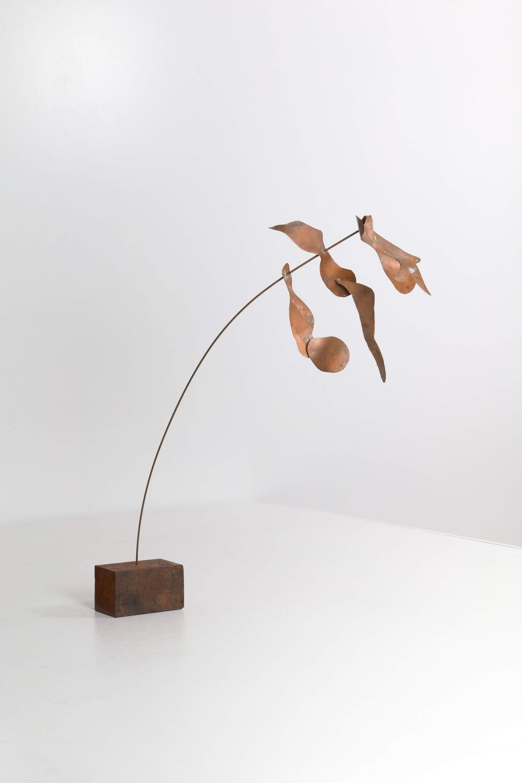 Studio Craft Copper and Steel Kinetic Sculpture