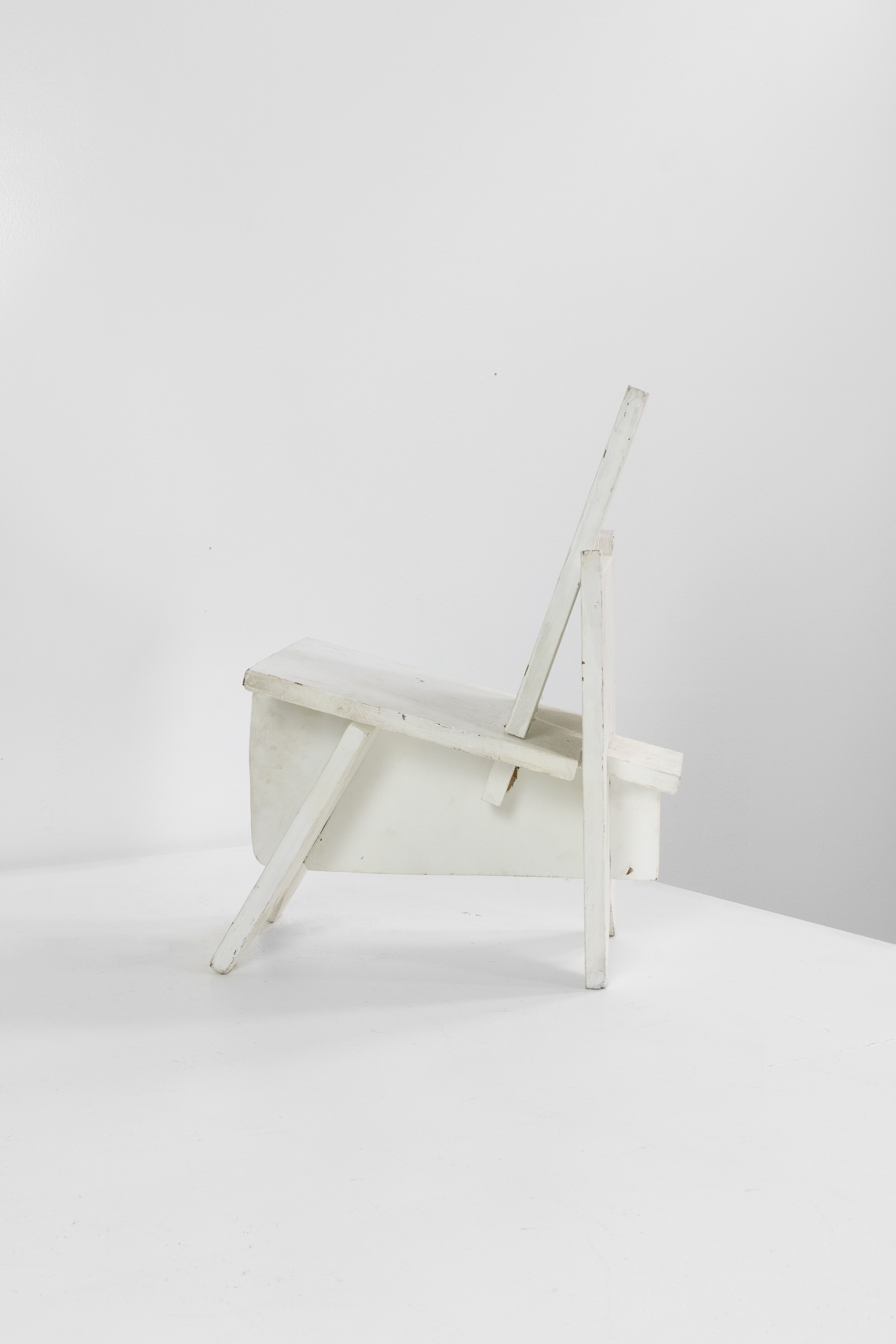 Constructivist Painted Plywood Child's Chair