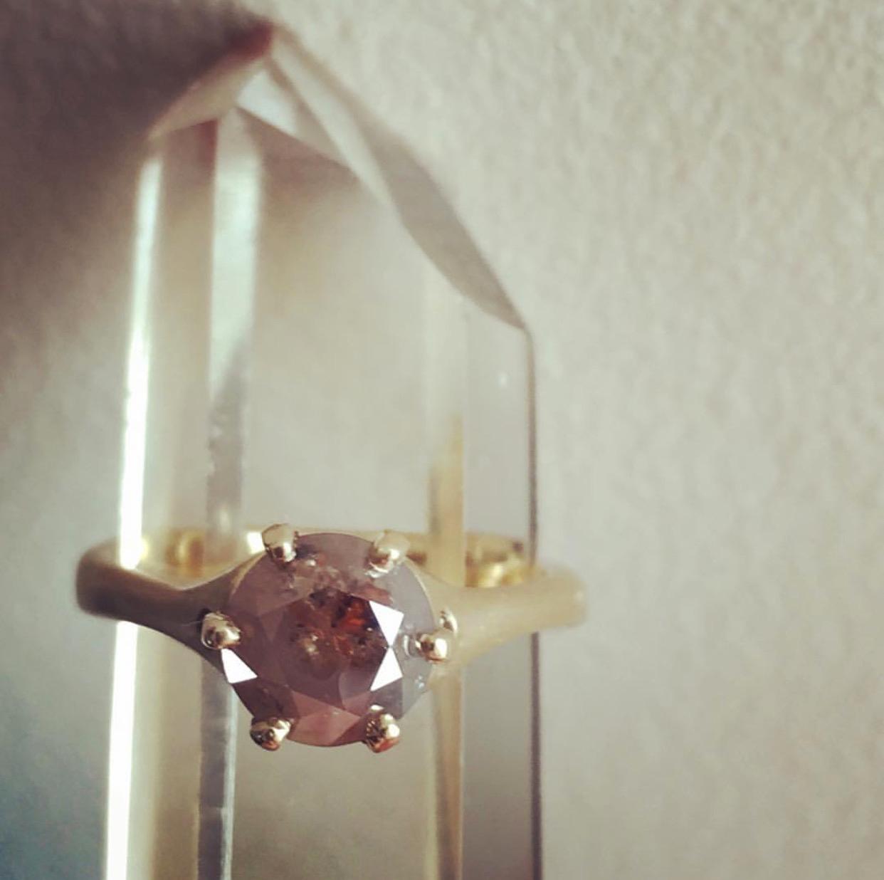 savory chocolate diamond ring